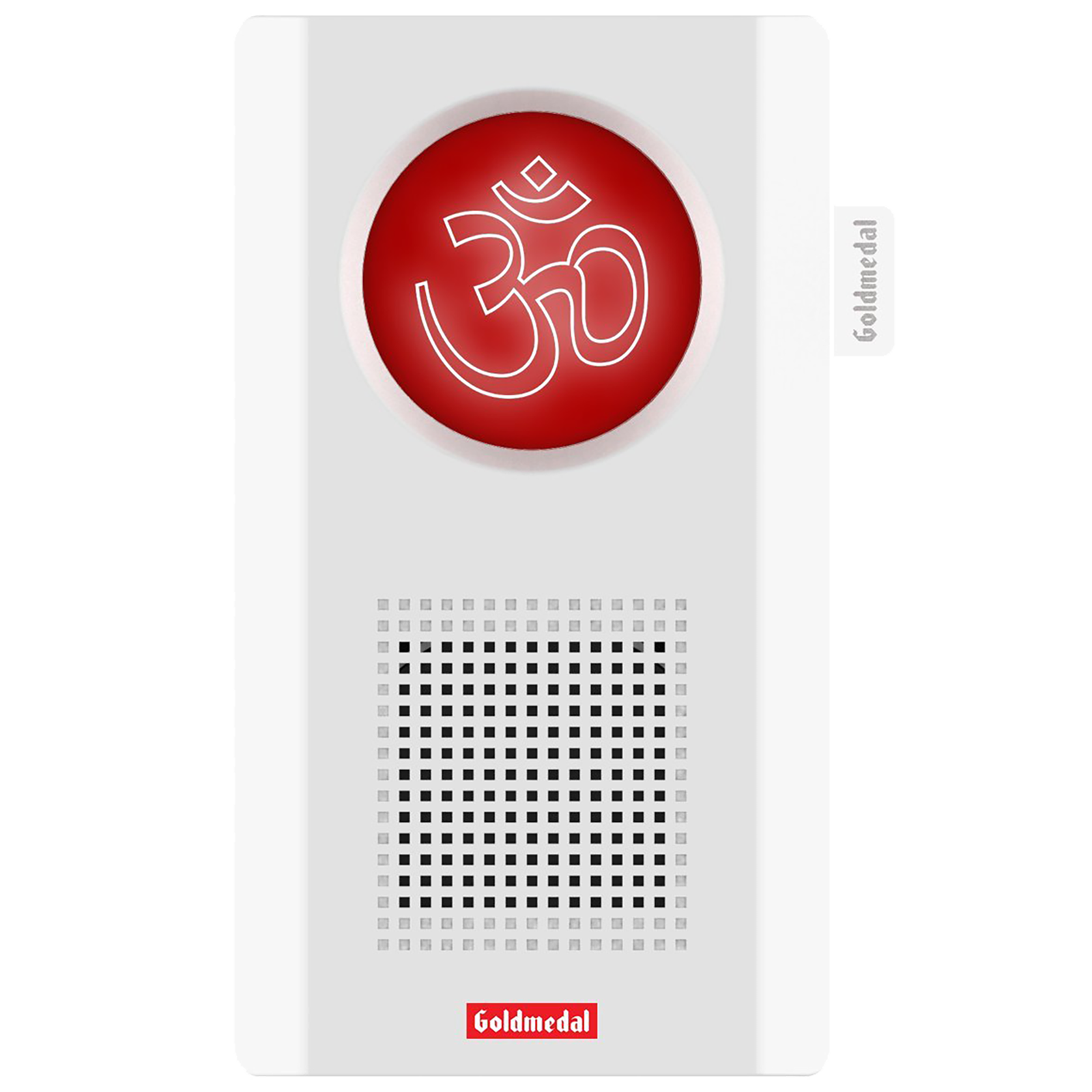 Goldmedal Ekaant Mantra Door Bell (Battery Operated, 204080B, White/Red)_1