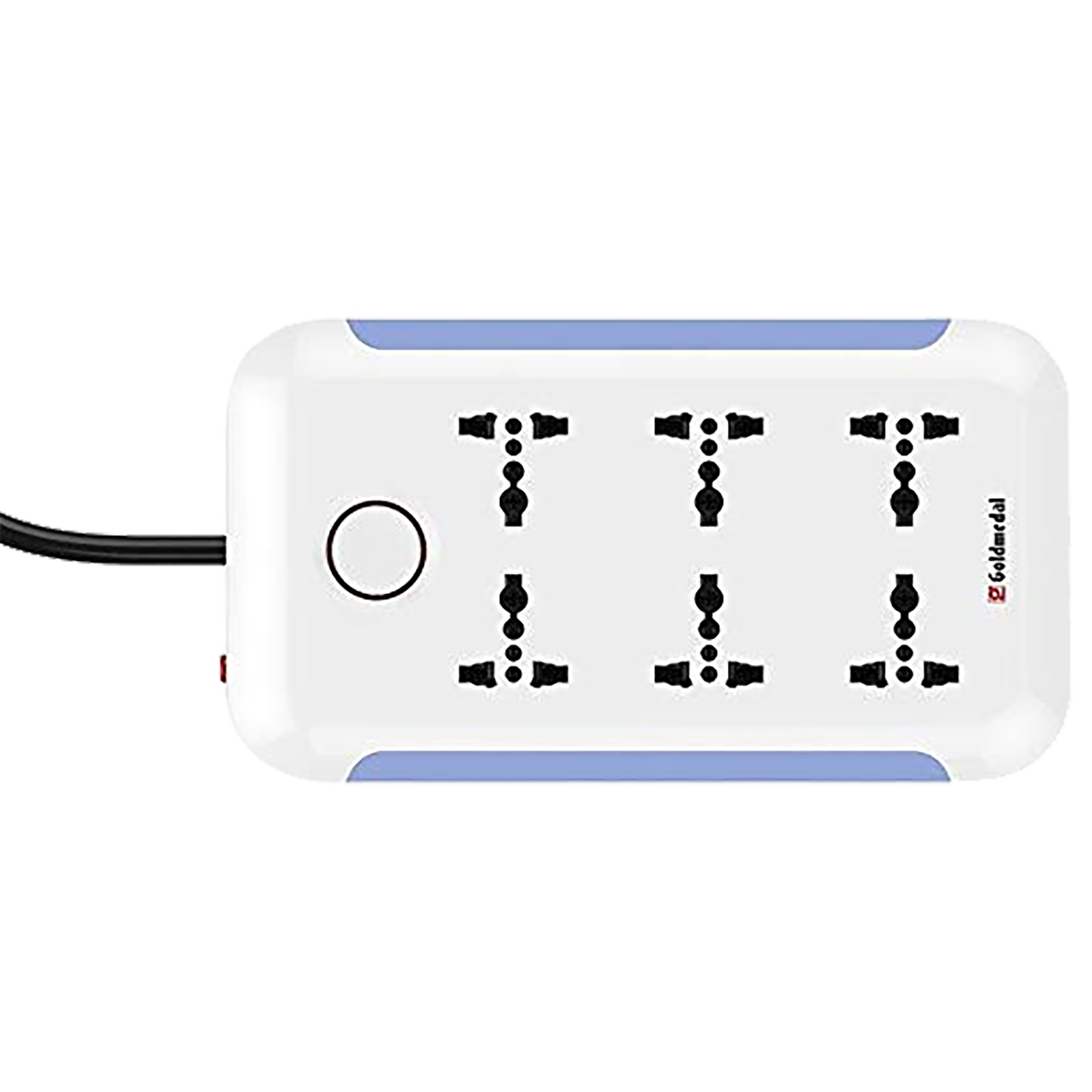 Goldmedal Curve Plus 6 Amp 6 Sockets Spike Guard With Individual Switch  (2 Meters, Power Indicator, 205101, Warm White)_1