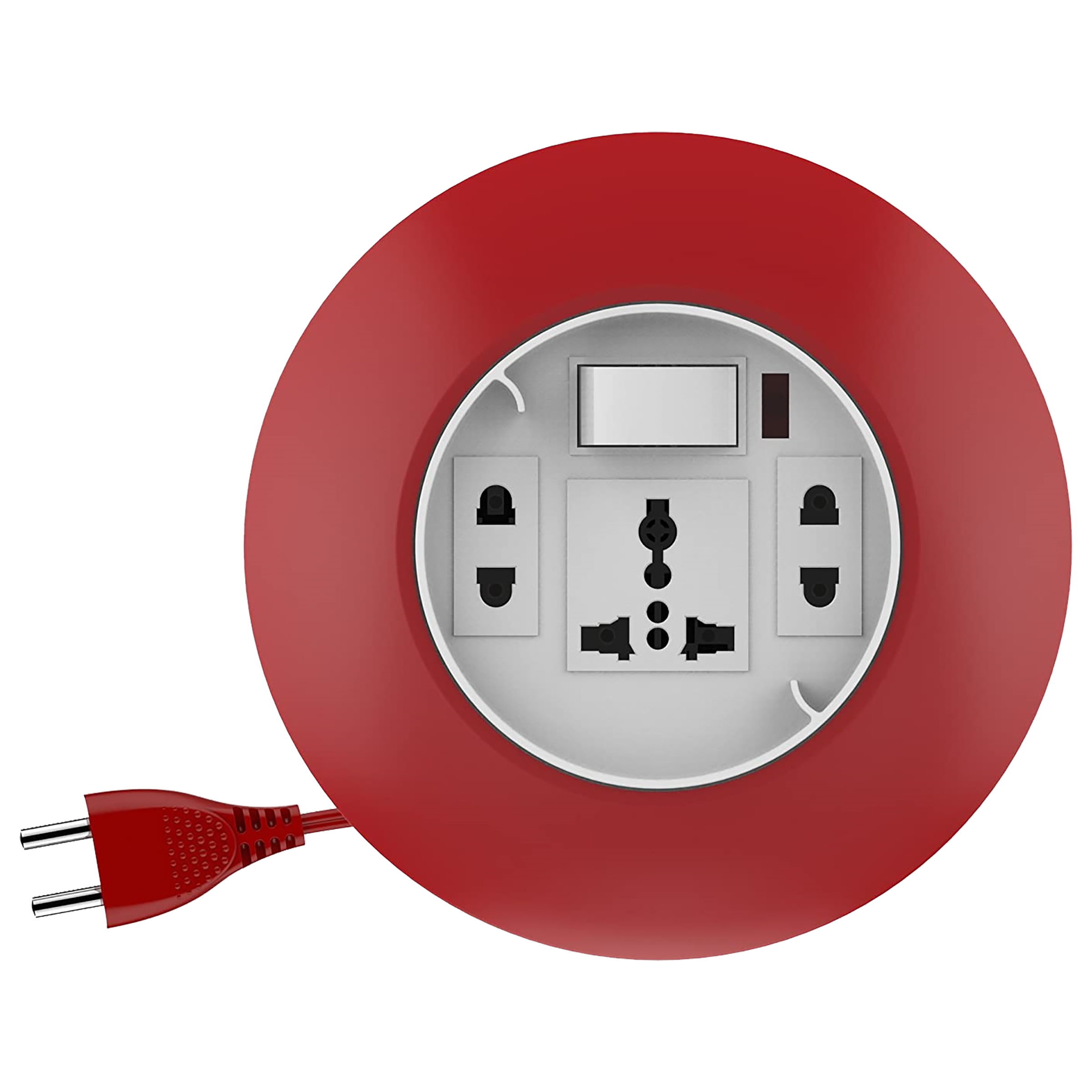 Goldmedal G-Dial 6 Amp 3 Sockets Extension Board (5 Meters, LED Indicator, 205128, White/Red)_1