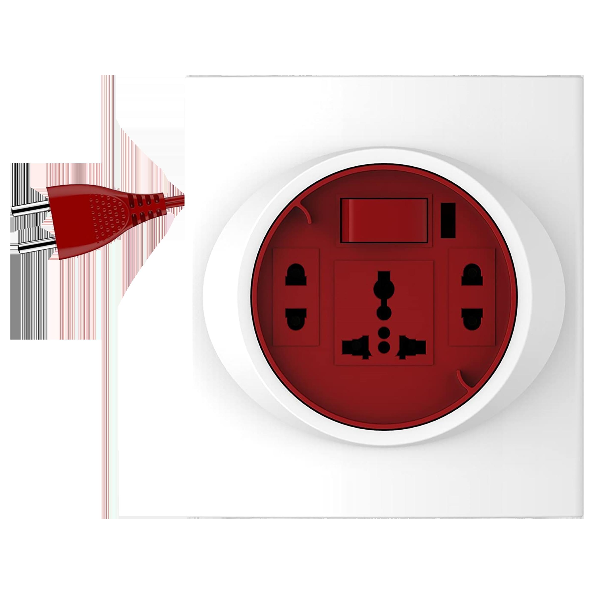 Goldmedal G-Smart 6 Amp 3 Sockets Extension Board  (5 Meters, International Socket, 205124, White/Red)_1