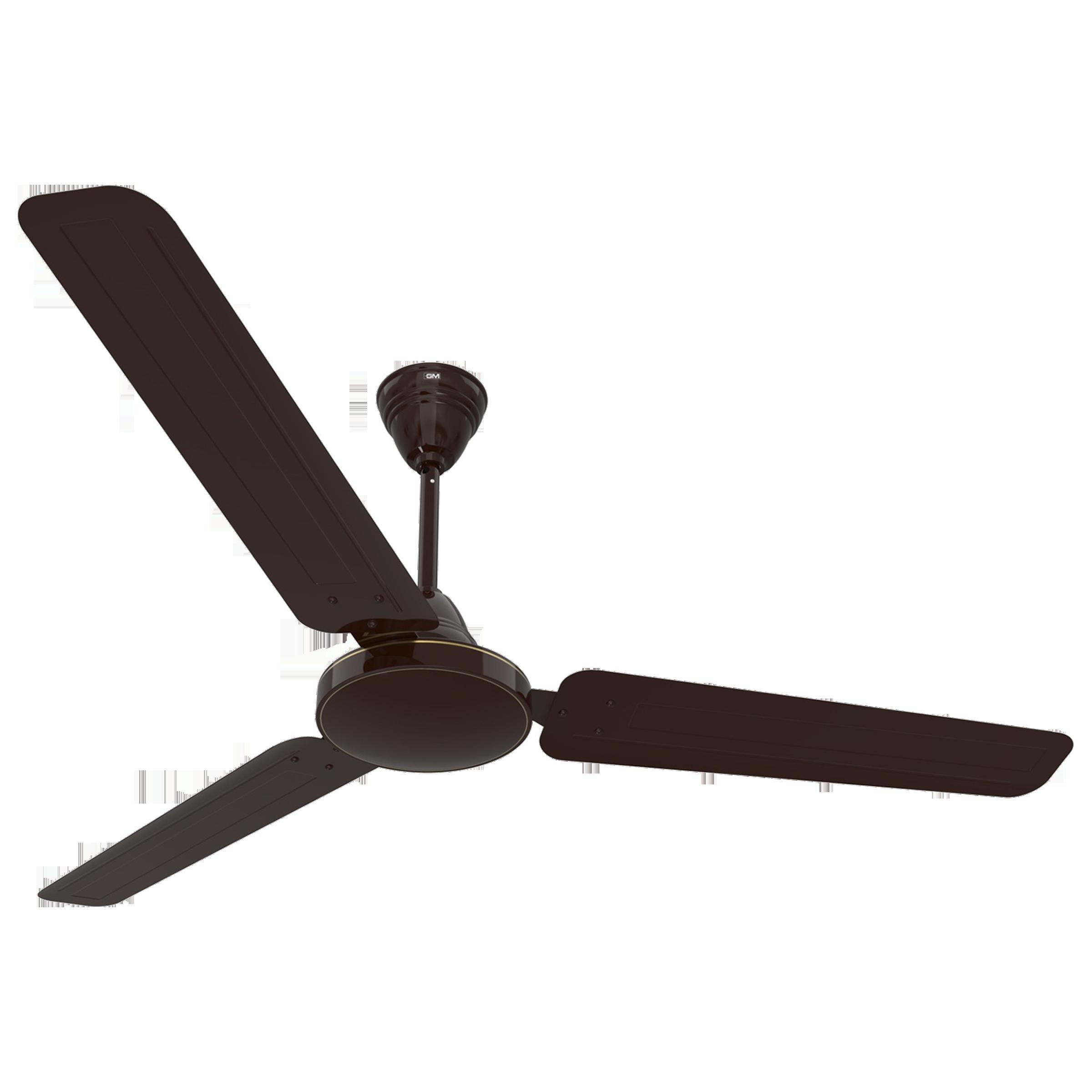 GM AIR9 Plus 120 cm Sweep 3 Blade Ceiling Fan (Double Ball Bearing, CFB480032BRGL, Brown)_1