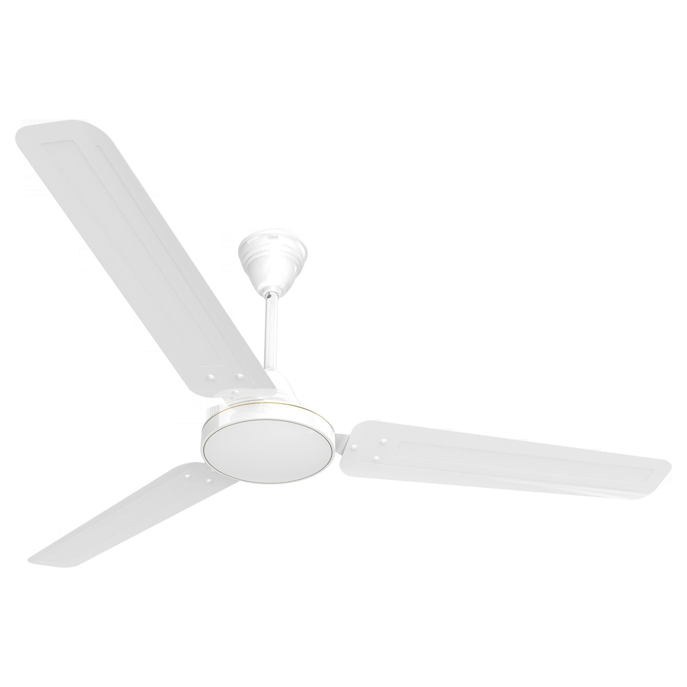 GM AIR9 Plus 120 cm Sweep 3 Blade Ceiling Fan (Double Ball Bearing, CFB480032WHGL, White)_1