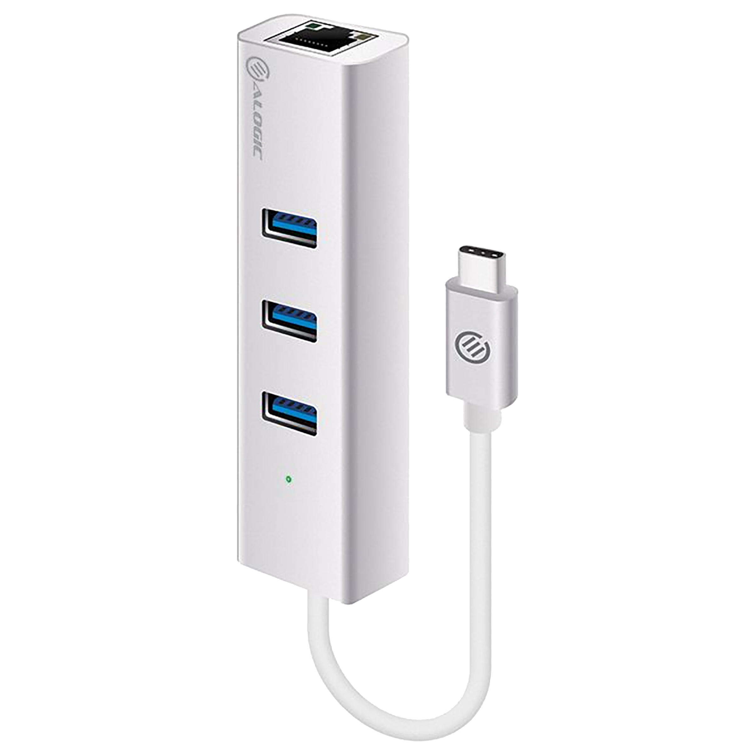 Alogic Prime Series USB 3.0 (Type-C) to USB 3.0 (Type-A) / Ethernet Multi Utility Multiport Adapter (Precision Unibody Enclosure, VPLUC3AGE, Silver)_1