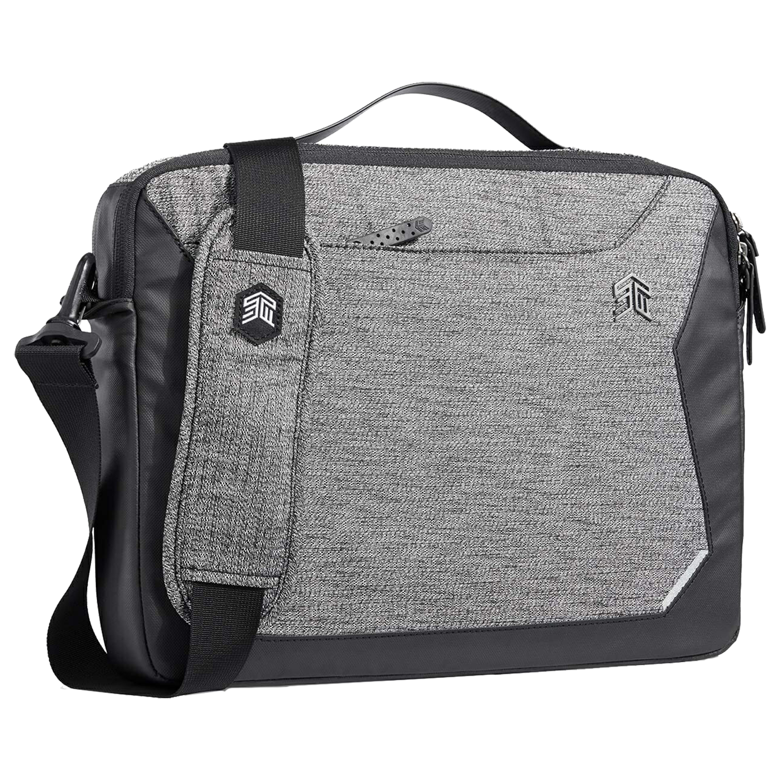 STM Myth Brief 8 Litres Polyester Carry Case for 15 Inch Laptop (Reverse Coil Zippers, STM-117-185P-01, Granite Black)_1