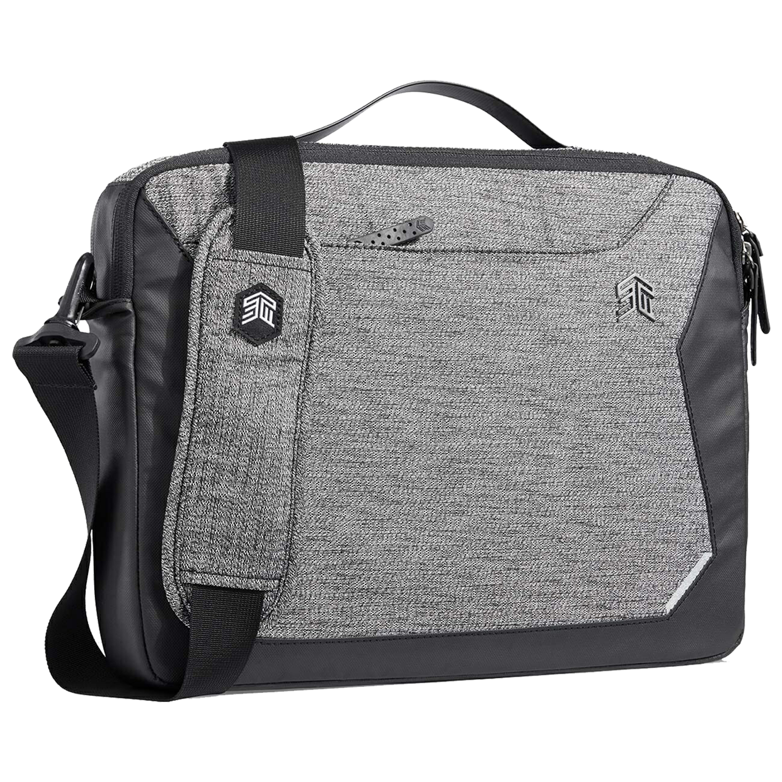 STM Myth Brief 7 Litres Polyester Carry Case for 13 Inch Laptop (Reverse Coil Zippers, STM-117-185M-01, Granite Black)_1