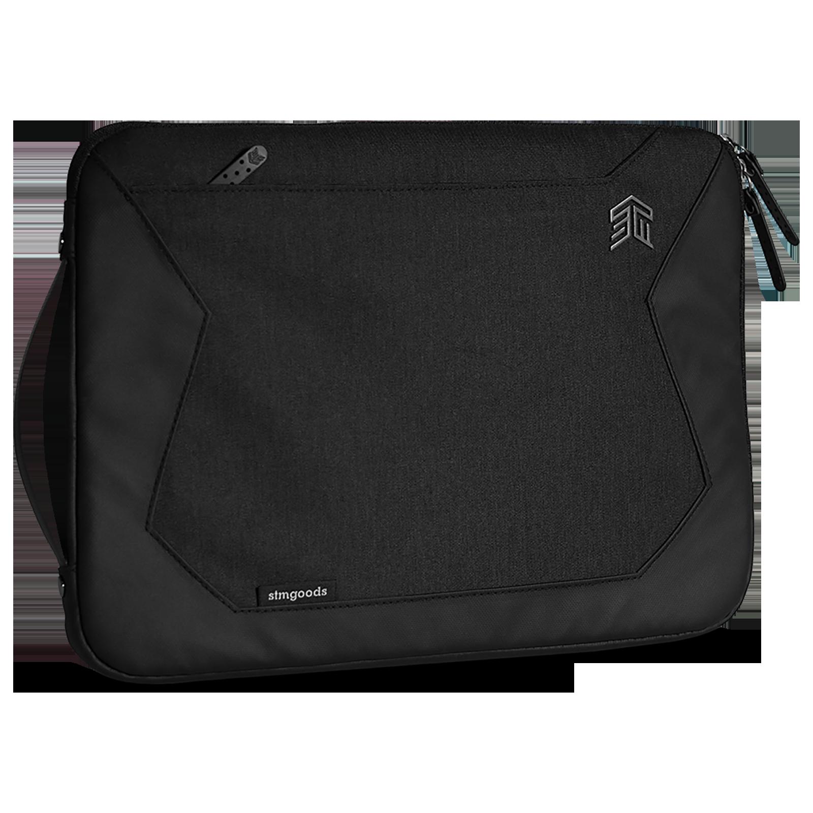 STM Myth Litres Polyester Sleeve for 13 Inch Laptop (TPU Coated Webbing Handles, STM-114-184M-05, Black)_1
