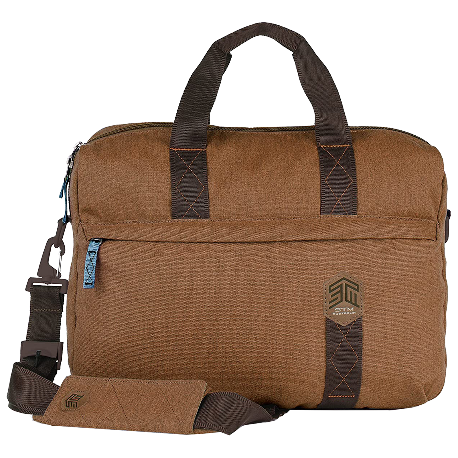 STM Judge Brief 14 Litres Polyester Carry Case for 15 Inch Laptop (Water Resistant, STM-112-147P-10, Brown)_1