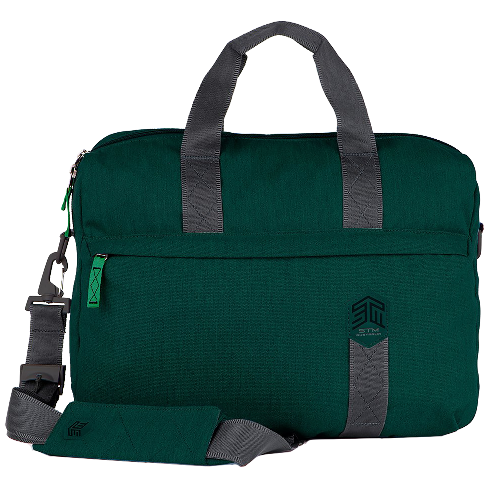 STM Judge Brief 14 Litres Polyester Carry Case for 15 Inch Laptop (SlingTech, STM-112-147P-08, Botanical Green)_1