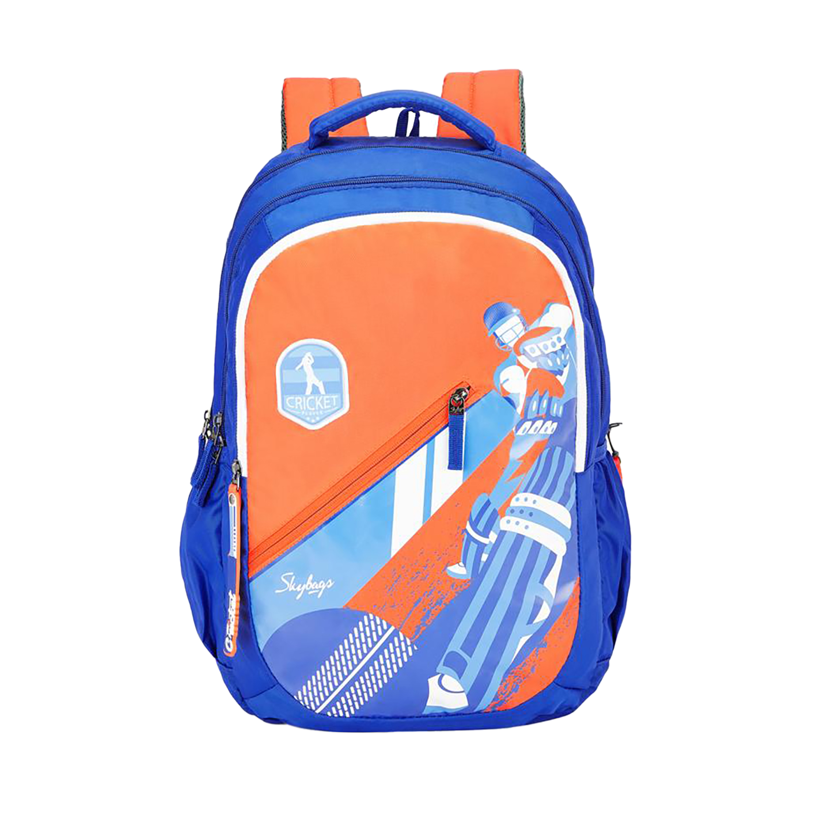 Sky Bags Astro Plus 04 Cricket 34 Litres Mini Gucci Backpack (Bottle Safety Lock, BPASP4CKT, Blue)_1