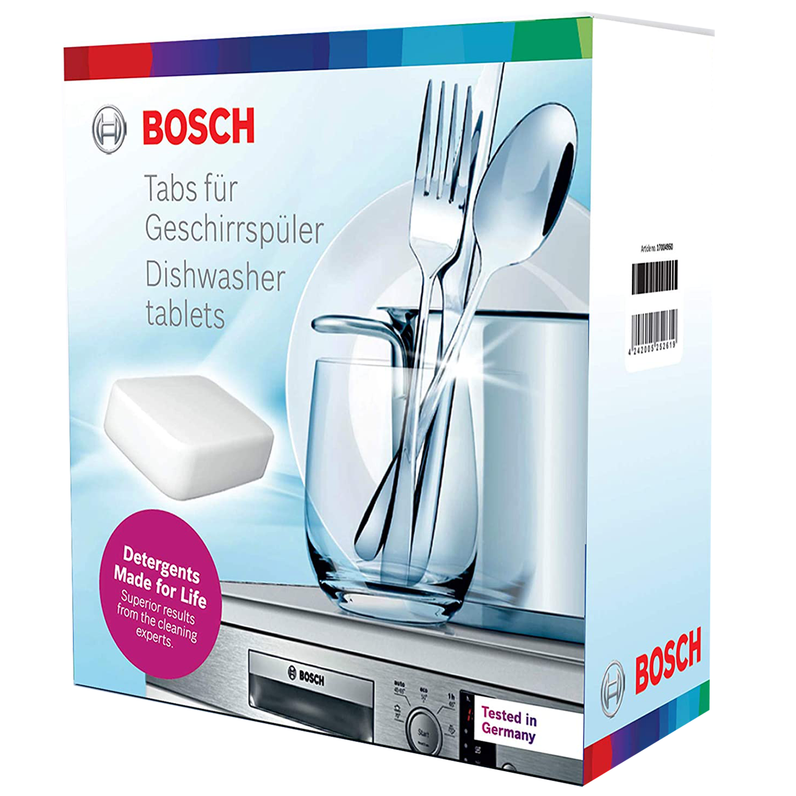 Bosch Tablets For Dishwasher (5-in-1 Power Clean Formula, 17004950, White)_1