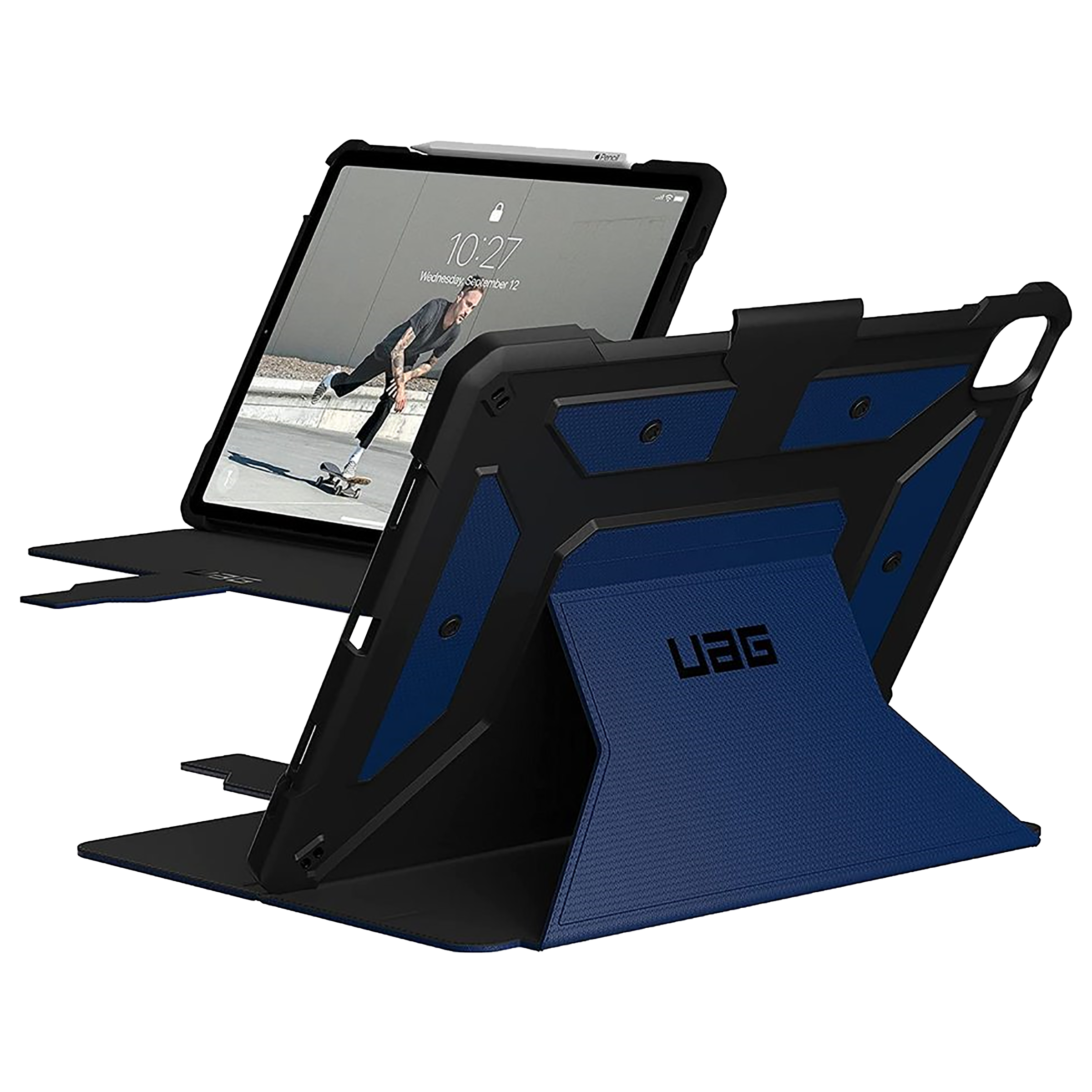 UAG Metropolis Thermoplastic Polyurethane Flip Case with Stand For Apple iPad Pro 12.9 Inch (Feather-Light Construction, UGMP_129G5_CB, Cobalt)_1