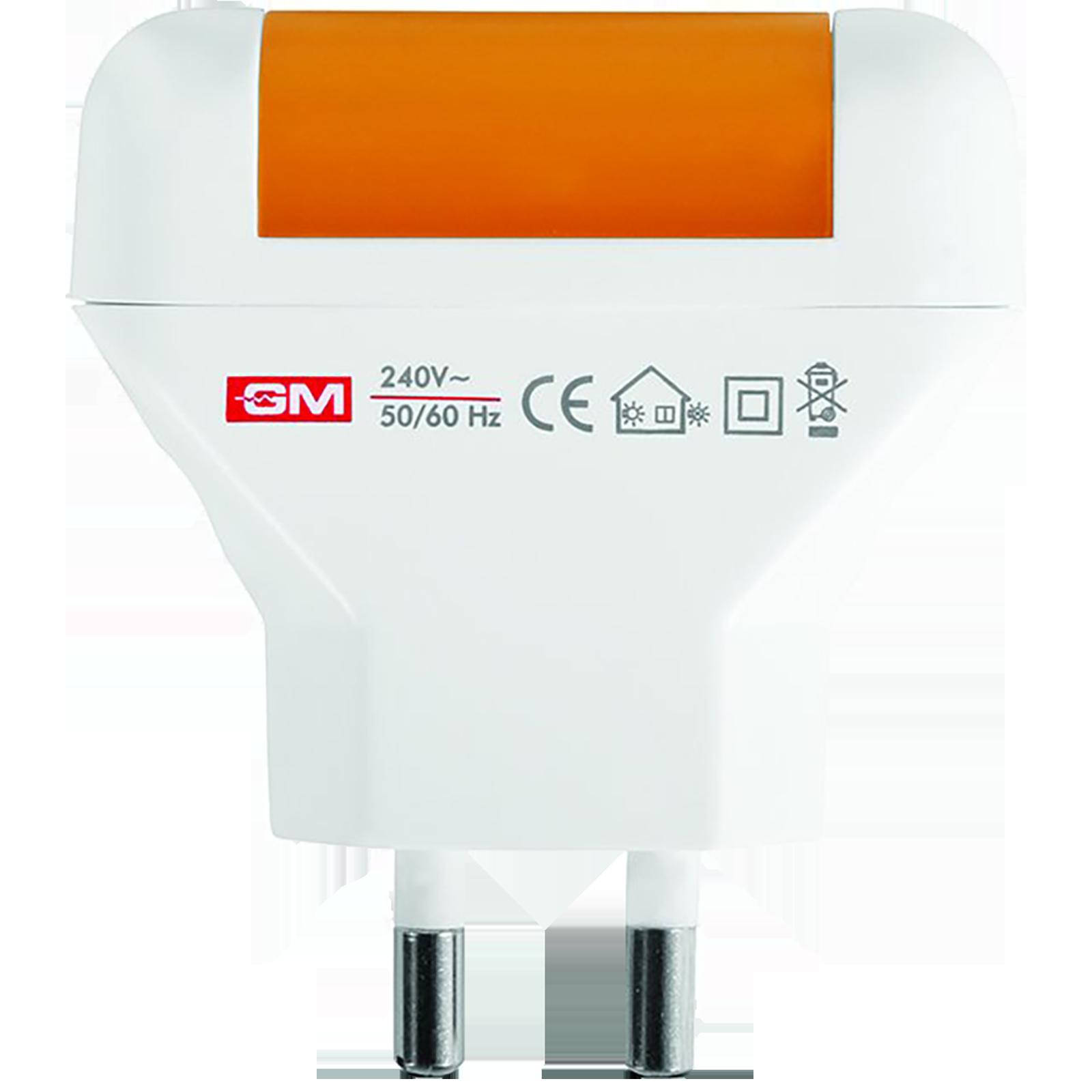 GM Focus 0.5 Watts LED Night Lamp (Long Life Over 10000 Hours, 3036, Lemon/White)_1
