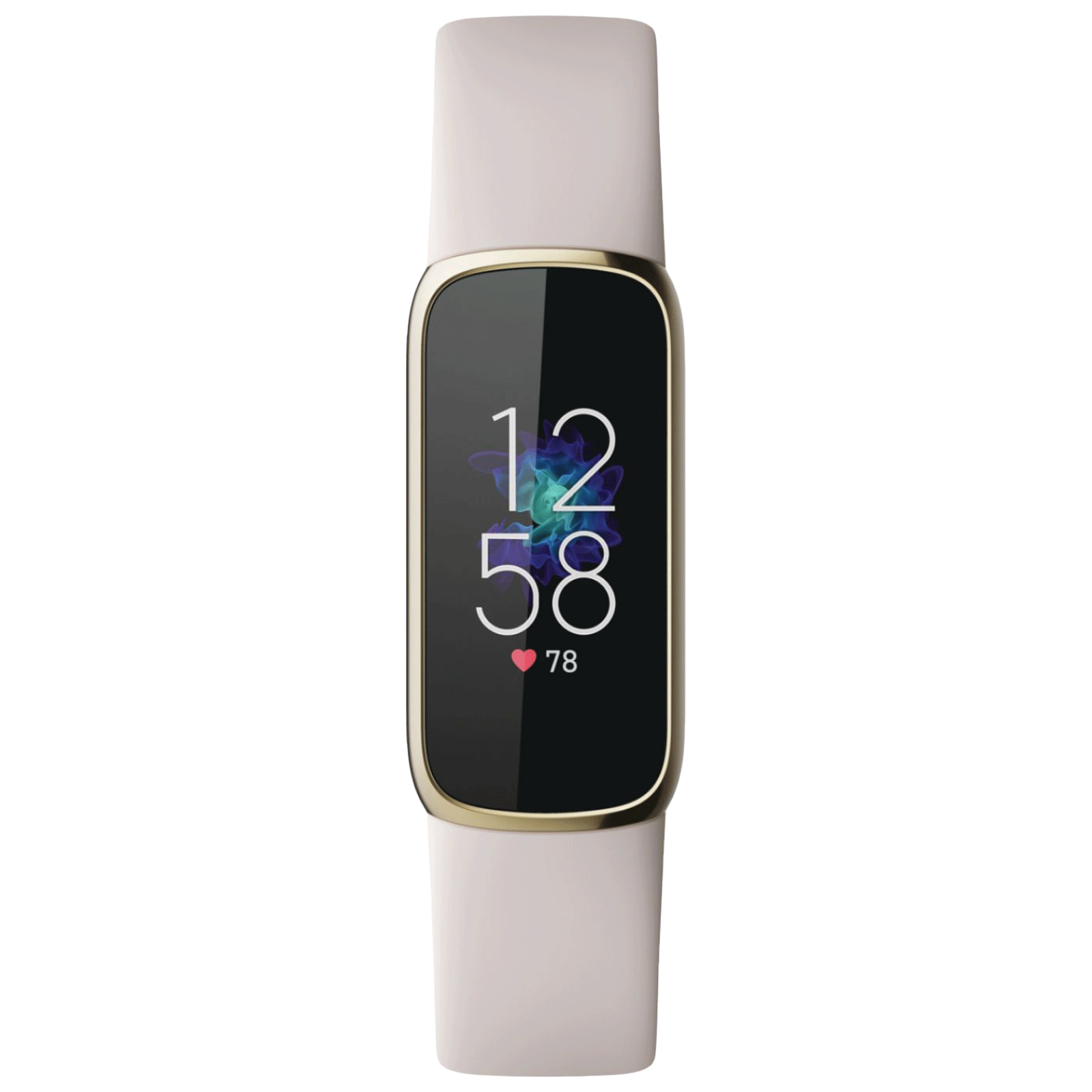 Fitbit Luxe Smart Band (19.30mm) (SPO2 Monitoring, FB422GLWT, Soft Gold/Lunar White, Silicone Band)_1
