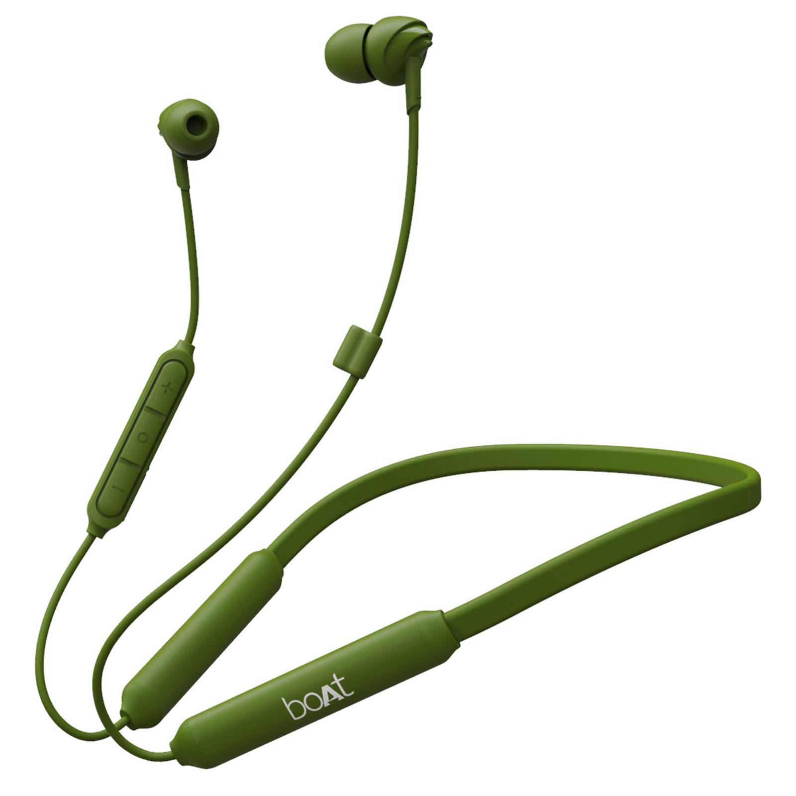 boAt In-Ear Wireless Earphone with Mic (Bluetooth 5.0, 100 Wireless, Green)_1