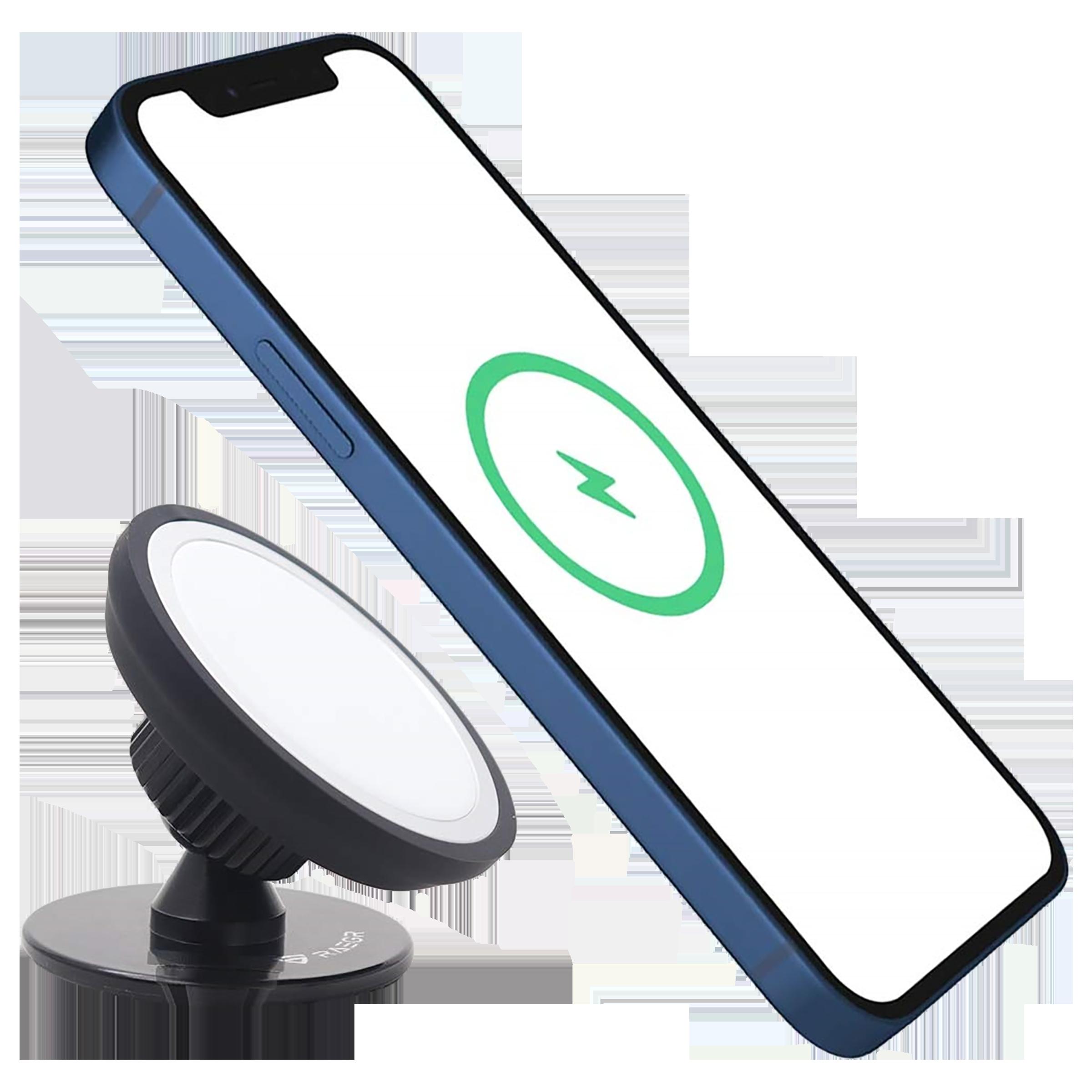 RAEGR MagFix Dashboard Mobile Holder (360° Rotation Stand, RG10188, Black)_1