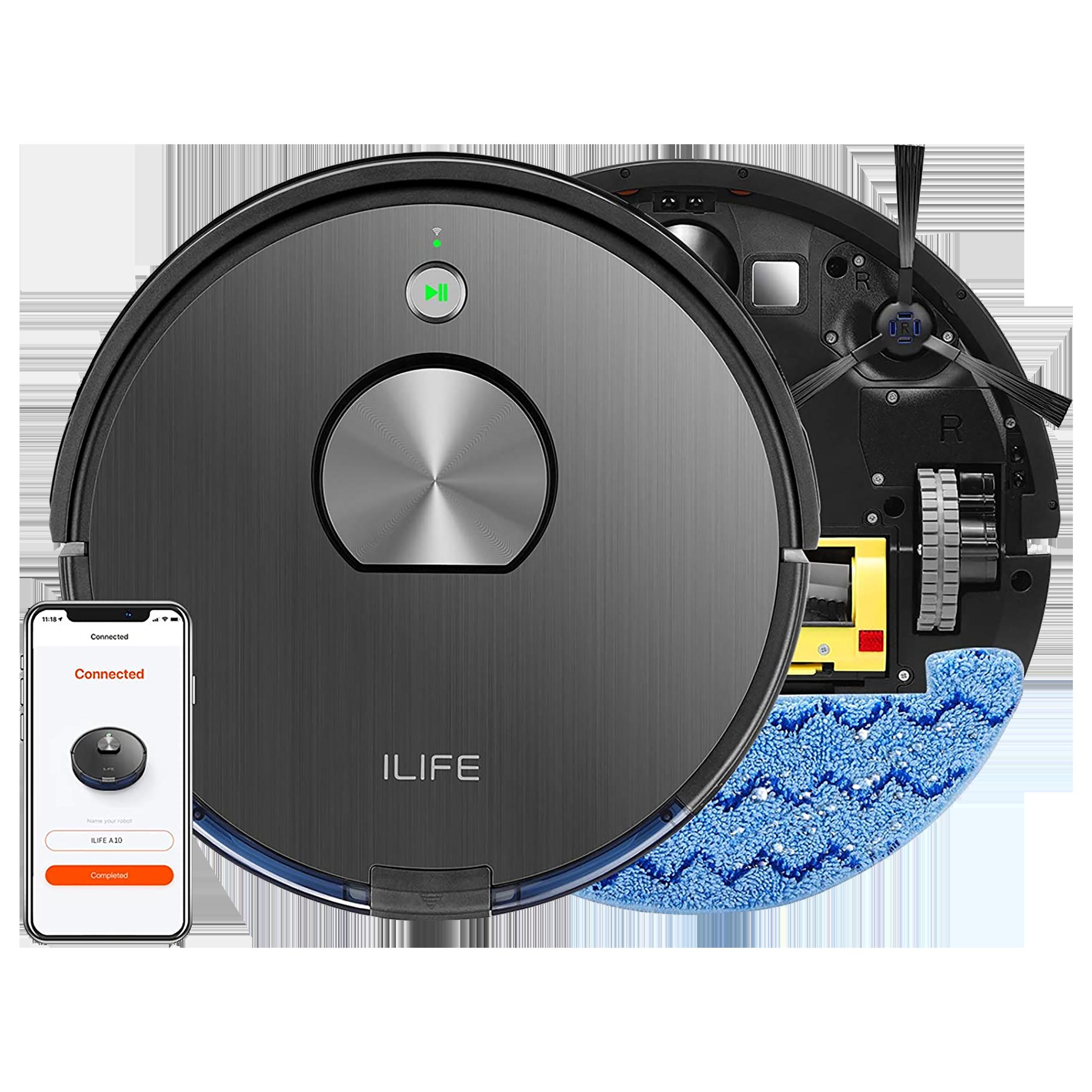 ILIFE Robotic Vacuum Cleaner (A10S, Black)_1