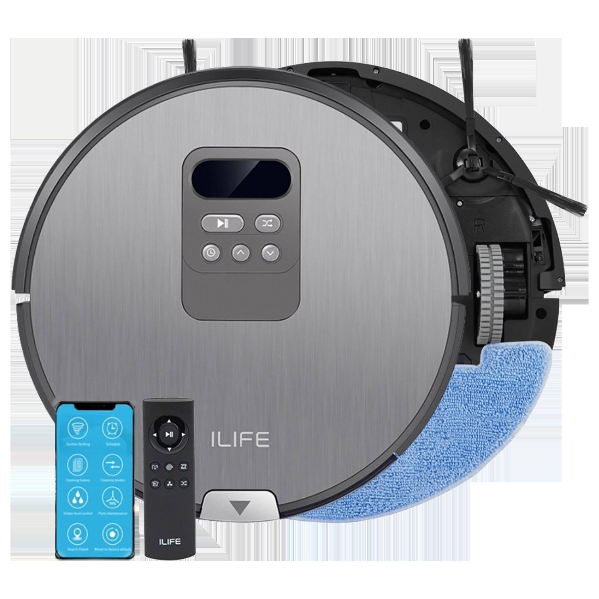 ILIFE 22 Watts Robotic Vacuum Cleaner (V80 Pro, Metal Grey)_1