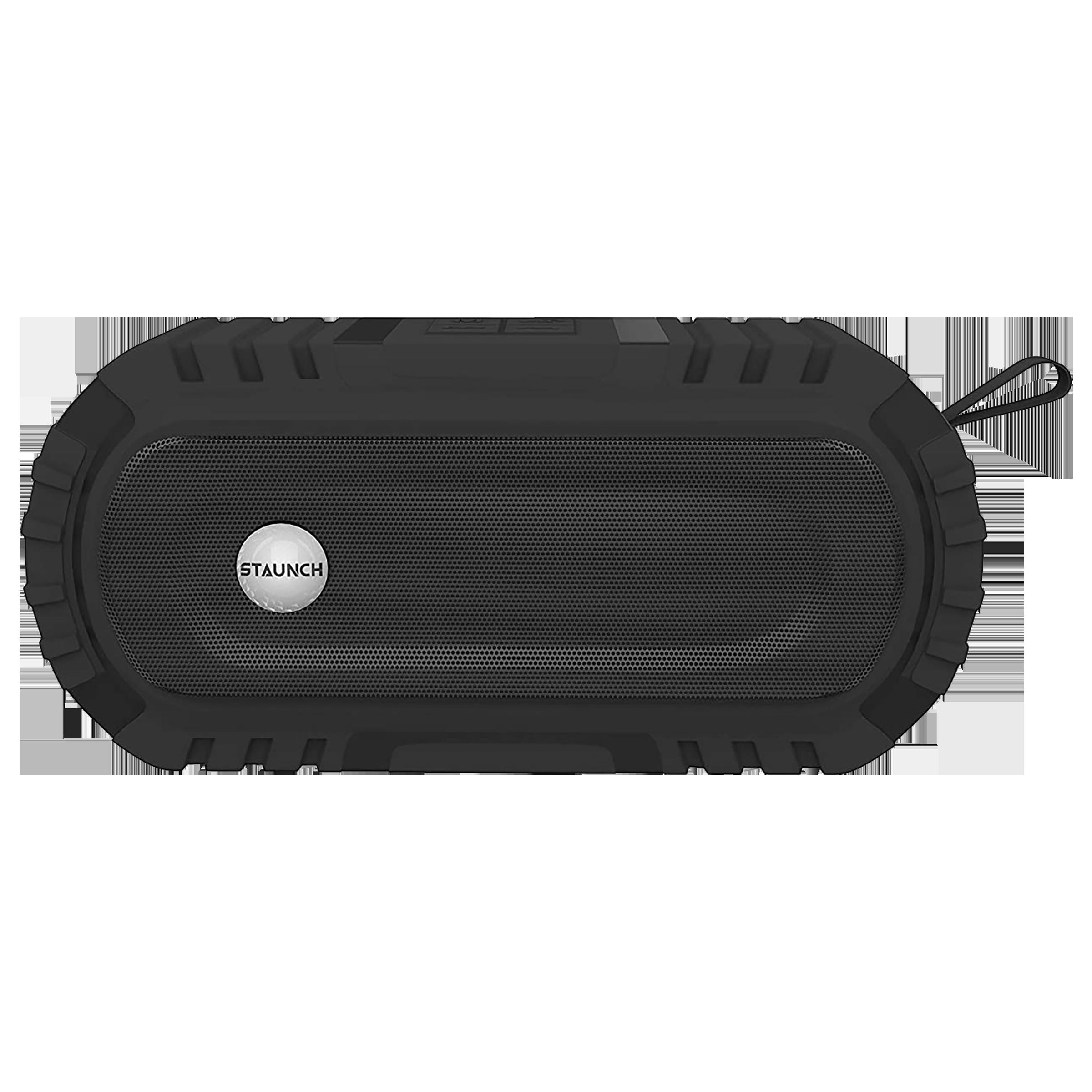 Staunch Thunder 1600 16 Watts Portable Bluetooth Speaker (IPX6-Water Resistant, Black)