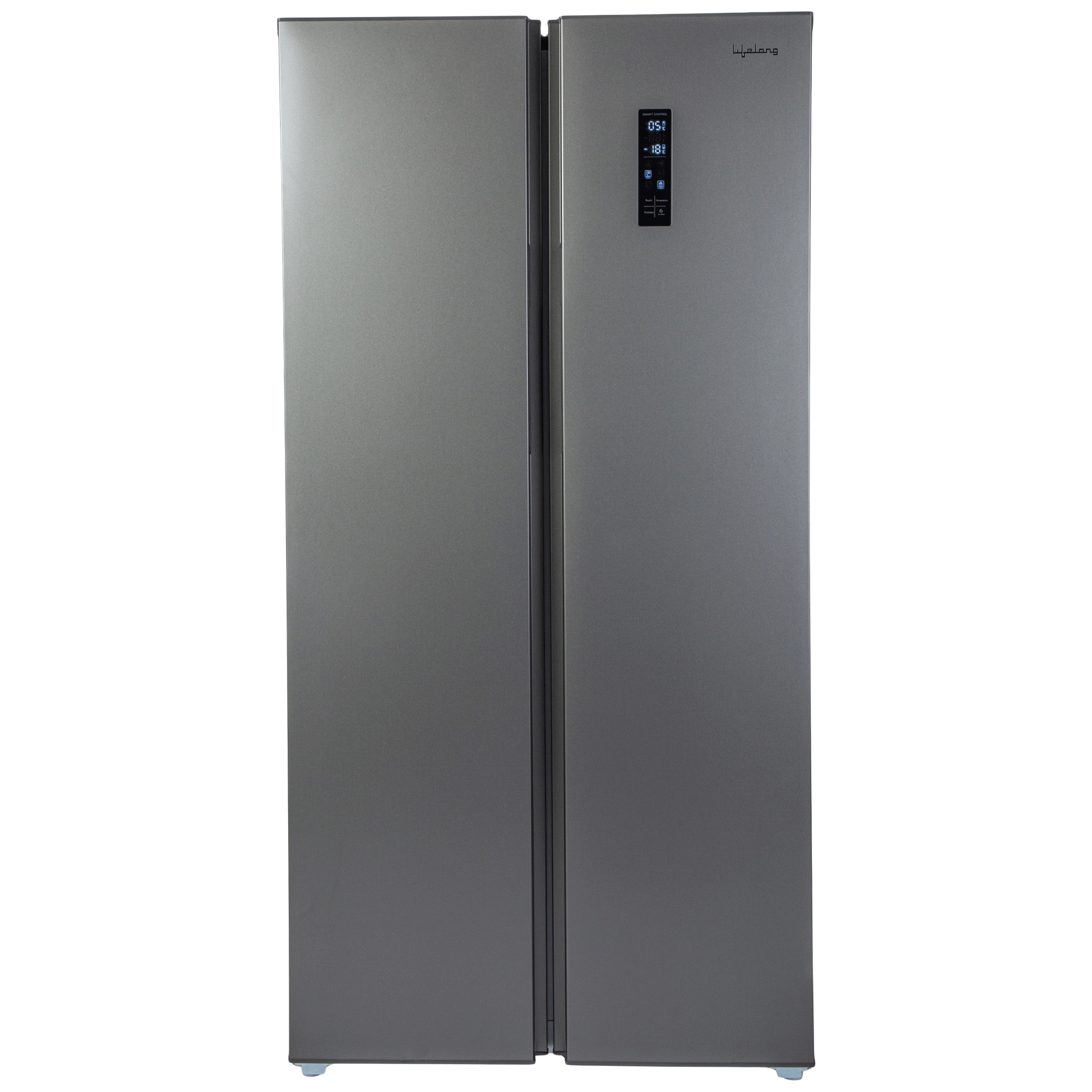 Lifelong 505 Litres Frost Free Inverter Side-by-Side Refrigerator (Quick Freeze, LLSBSR505, Silver)_1