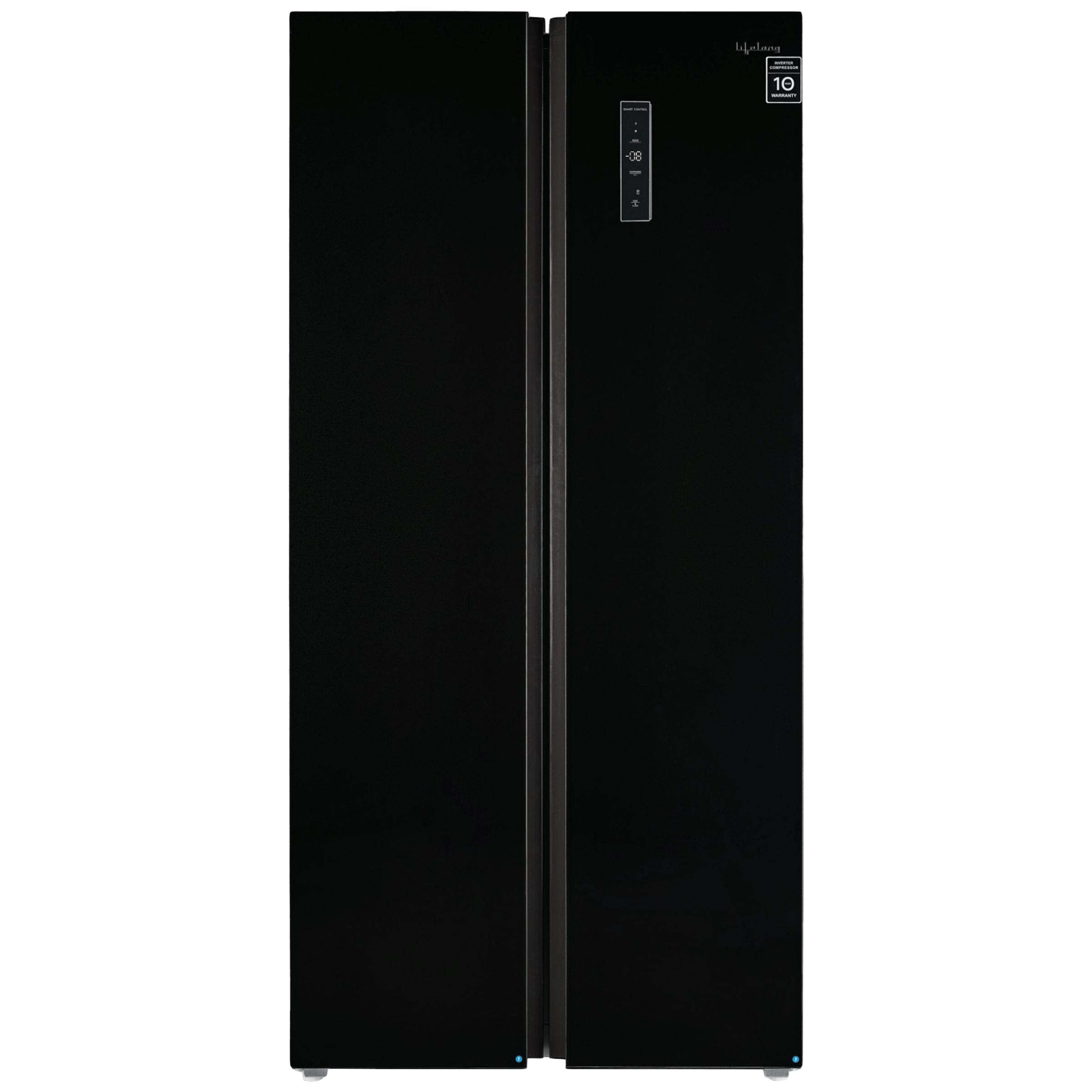 Lifelong 505 Litres Frost Free Inverter Side-by-Side Refrigerator (Quick Freeze, LLSBSR505BG, Black)_1
