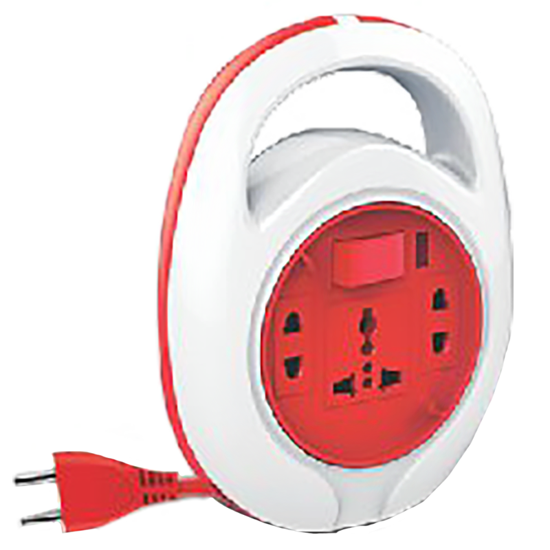 Goldmedal Curve Quord 10 Amp 3 Sockets Extension Board 5 Meters (Minimalistic Elegance, 205118, White/Red)_1