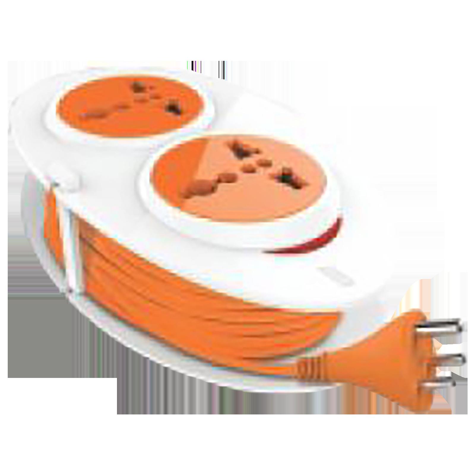 GM G-On 6 Amp 2 Sockets Extension Board (1.5 Meters , Ergonomic Design, GM 3207, White)_1