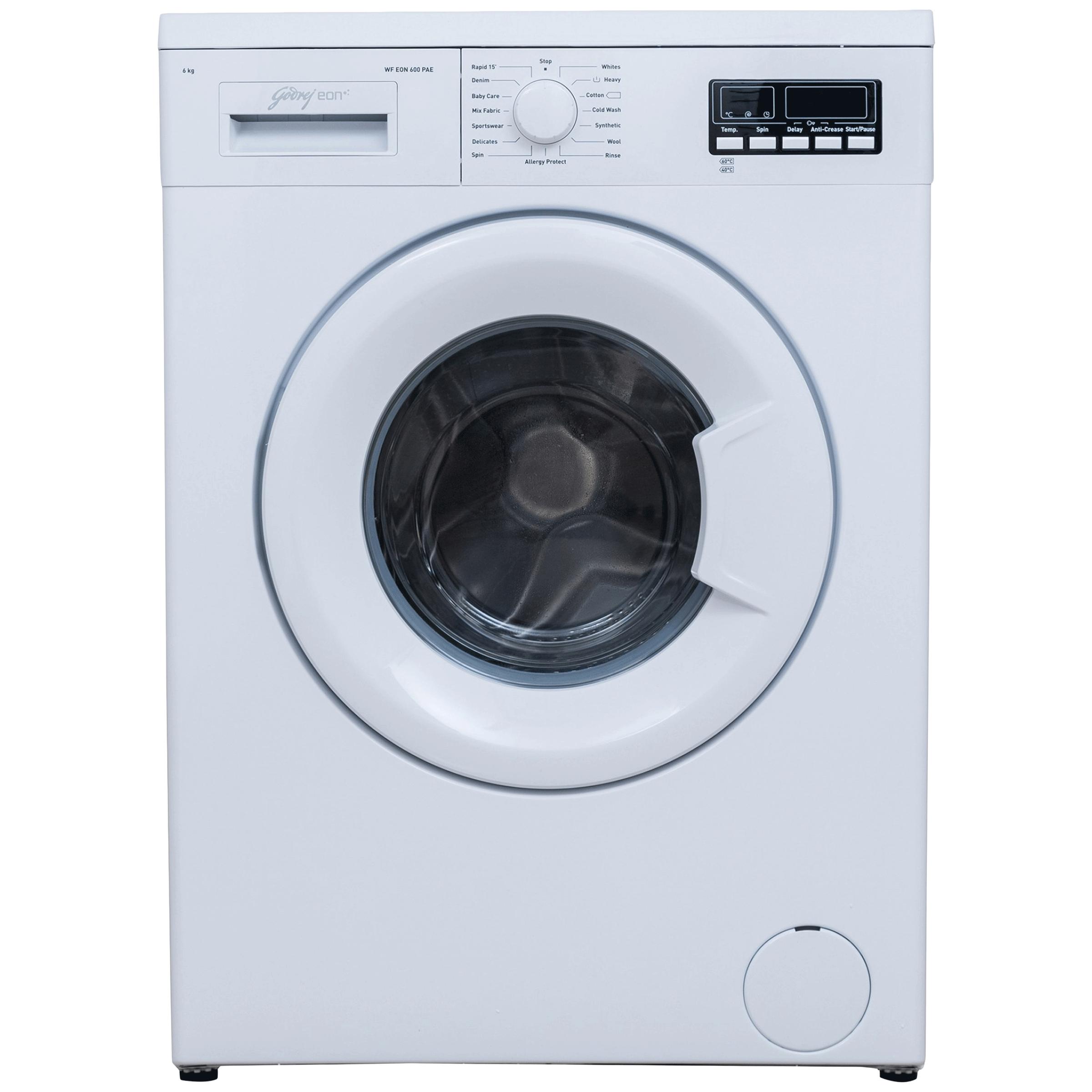 Godrej Eon 6 kg 5 Star Fully Automatic Front Load Washing Machine (Eco-Balance System, WF Eon 600 PAE, White)_1