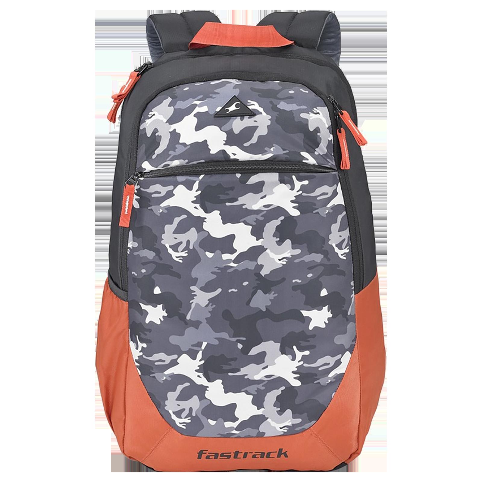 Fastrack Freerail Ergolight 30 Litres Polyester Backpack (Back Padding, A0793NOR01, Orange)_1