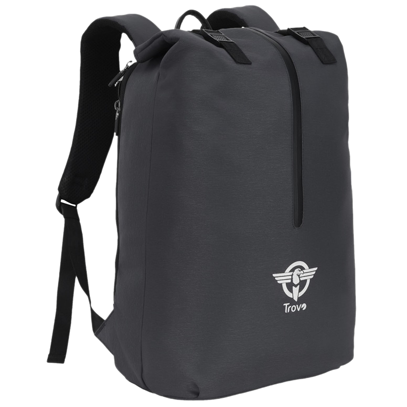 Trovo Champ Pro Plus Polyester Backpack for Laptop (Shock Proof, TLB-82-BLACK, Black)_1