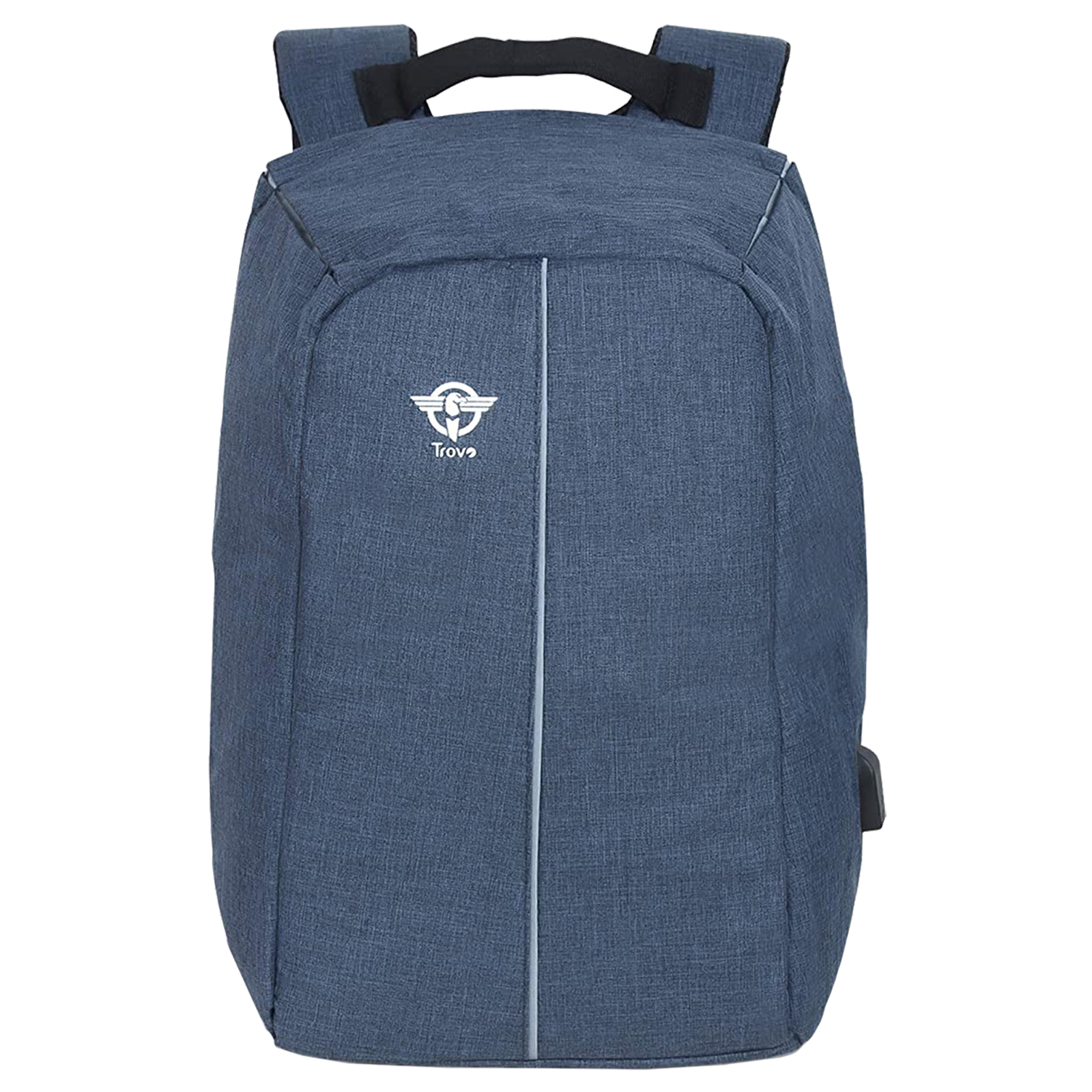Trovo Champ Pro Polyester Backpack for Laptop (USB Port, TLB-81-BLUE, Blue)_1
