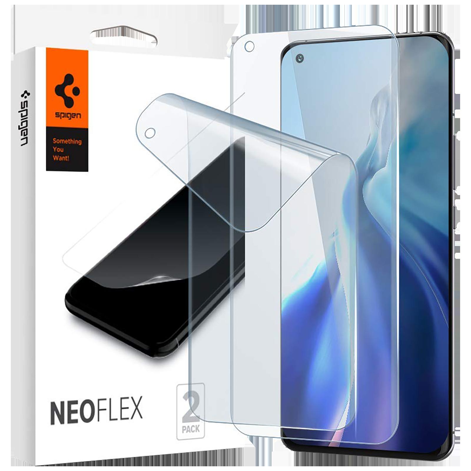 Spigen NeoFlex Screen Protector For Mi 11/Mi 11 Pro/Mi 11 Ultra (Scratch Resistant, AFL02837, Transparent)_1