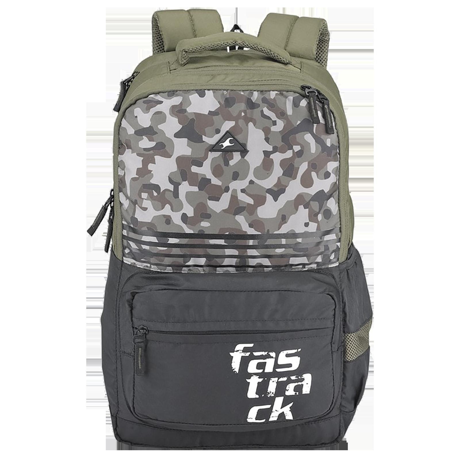 Fastrack Killer 2.0 Ergolight 35 Litres Polyester Backpack (Rain Cover, A0790NOL01, Olive)_1