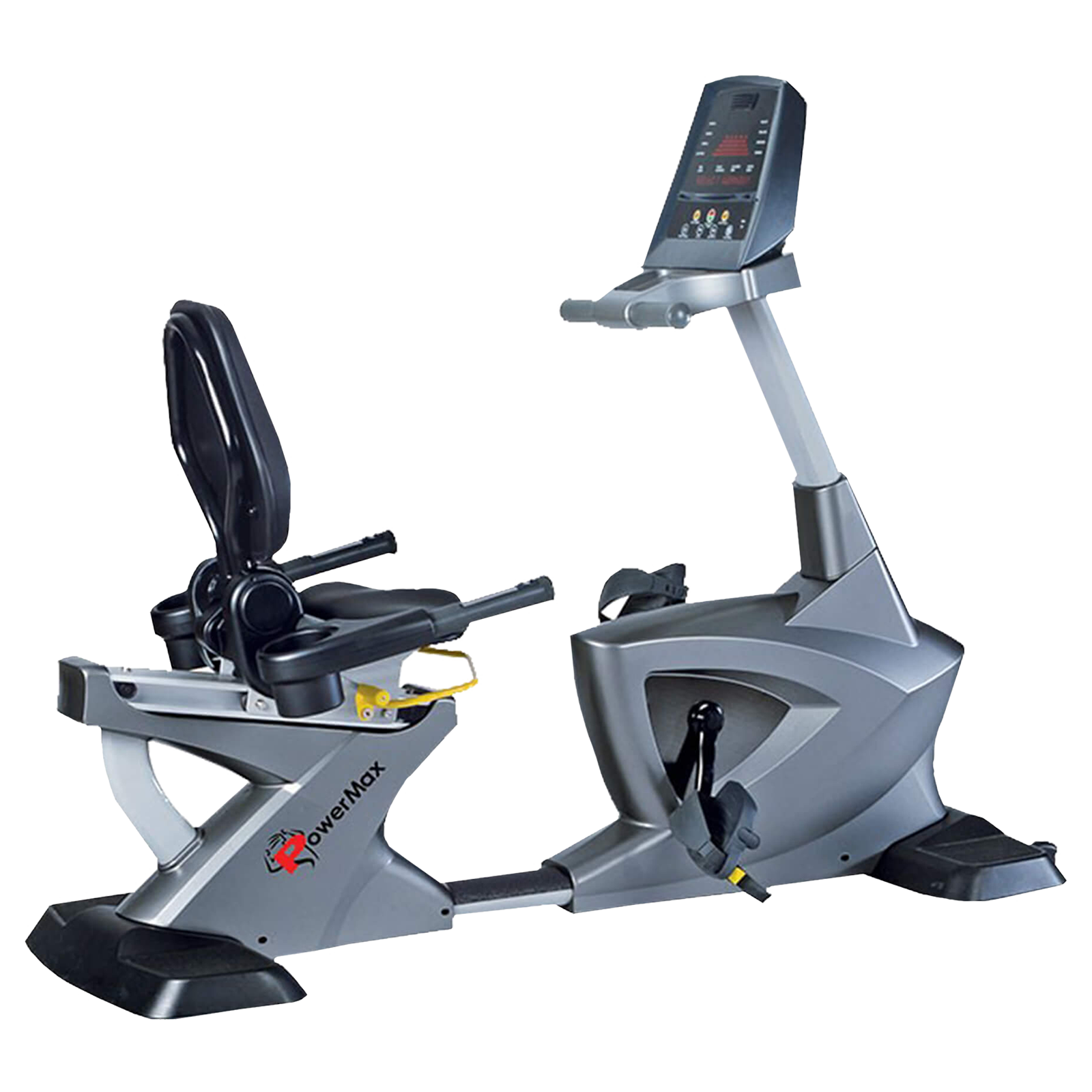 Powermax Fitness Cycle (Adjustable Backrest Angle, BR-3000C, Grey)_1