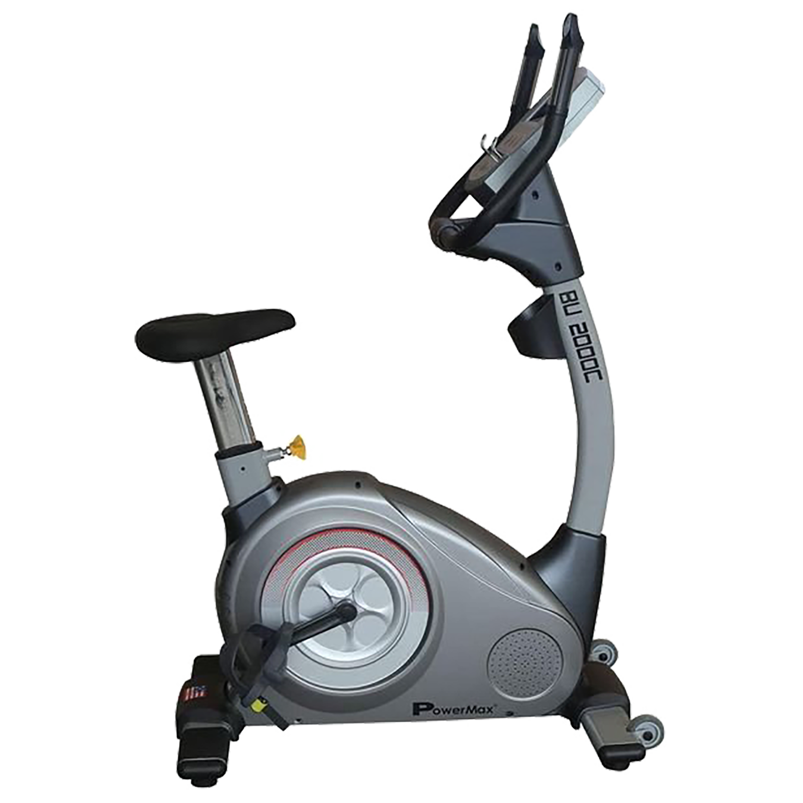 Powermax Fitness Cycle (20 Level Auto Tension Control Electromagnetic Resistance, BU-2000C, Blue/White)_1