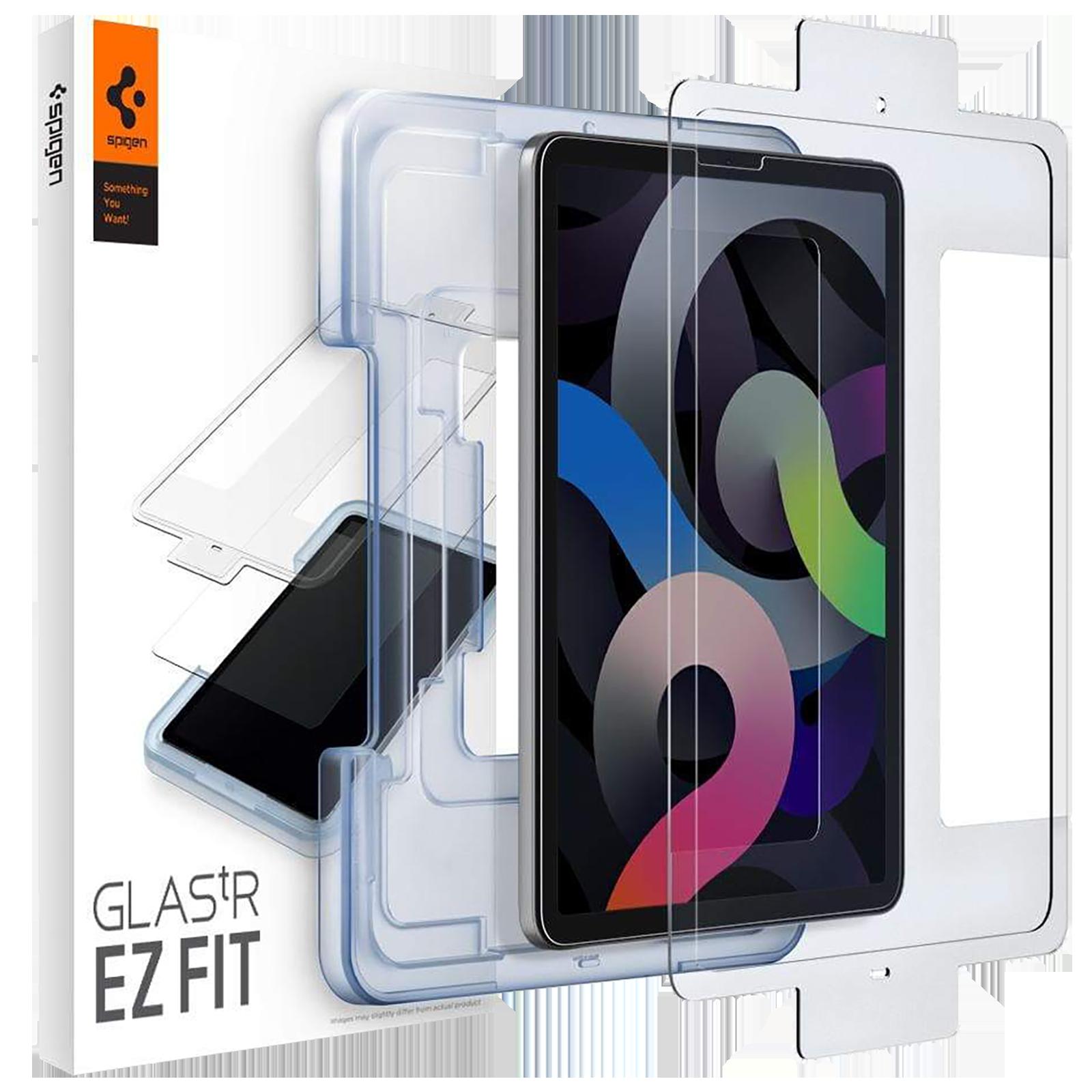 """Spigen GLAS.tR EZ FIT Screen Protector For Apple iPad Air 10.9"""" (2021/2020) (Oleophobic Coating, AGL02065, Transparent)_1"""