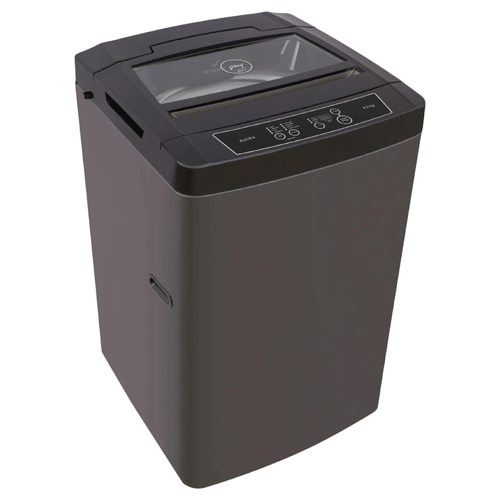 Godrej Eon Audra 6.5 kg 5 Star Fully Automatic Top Load Washing Machine (Auto Balance System, WTA EON AUDRA 650 PDNMP, Graphite Grey)_1