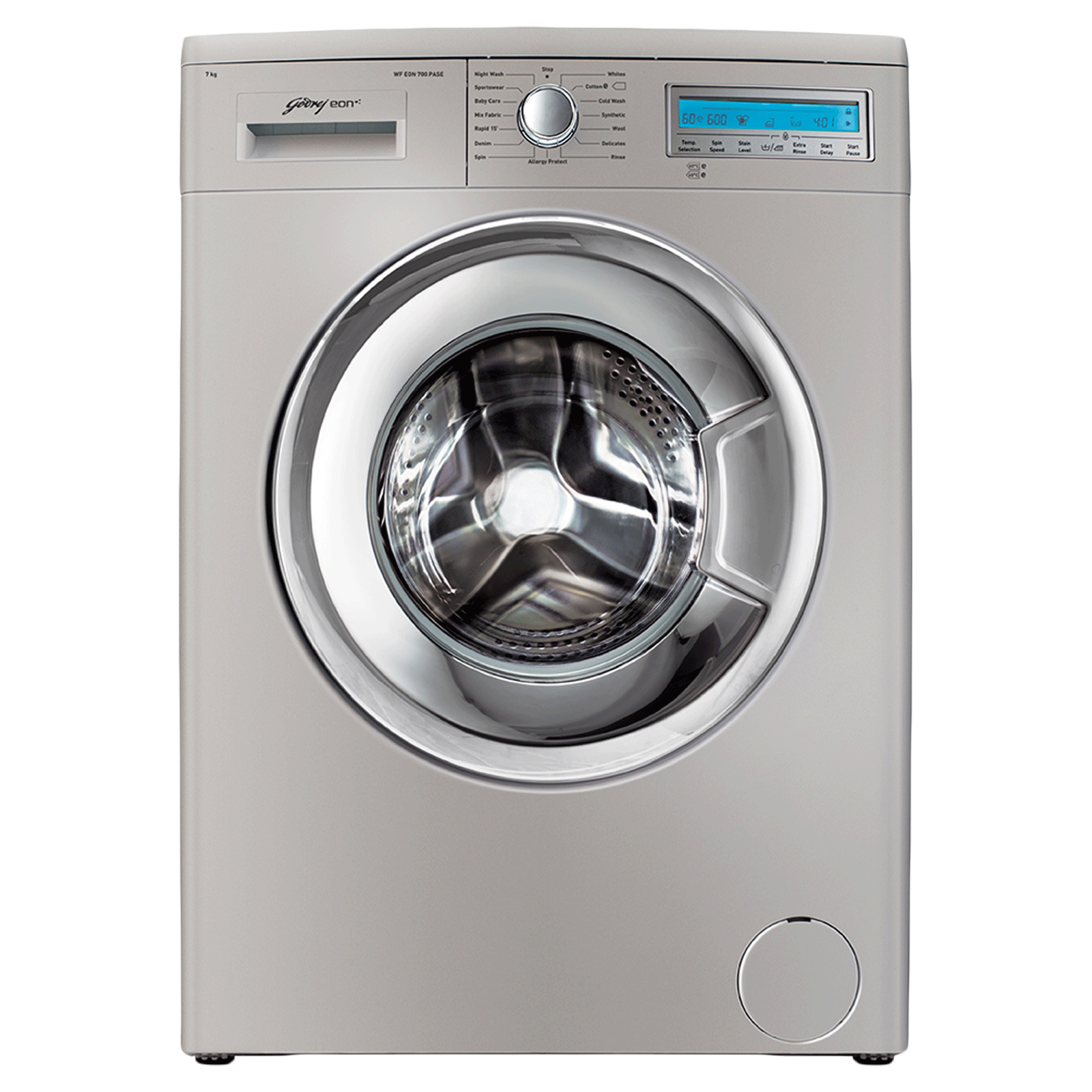 Godrej Eon 7 kg Fully Automatic Front Load Washing Machine (Error Detection System, WF EON 7010 PASC, Silver)_1