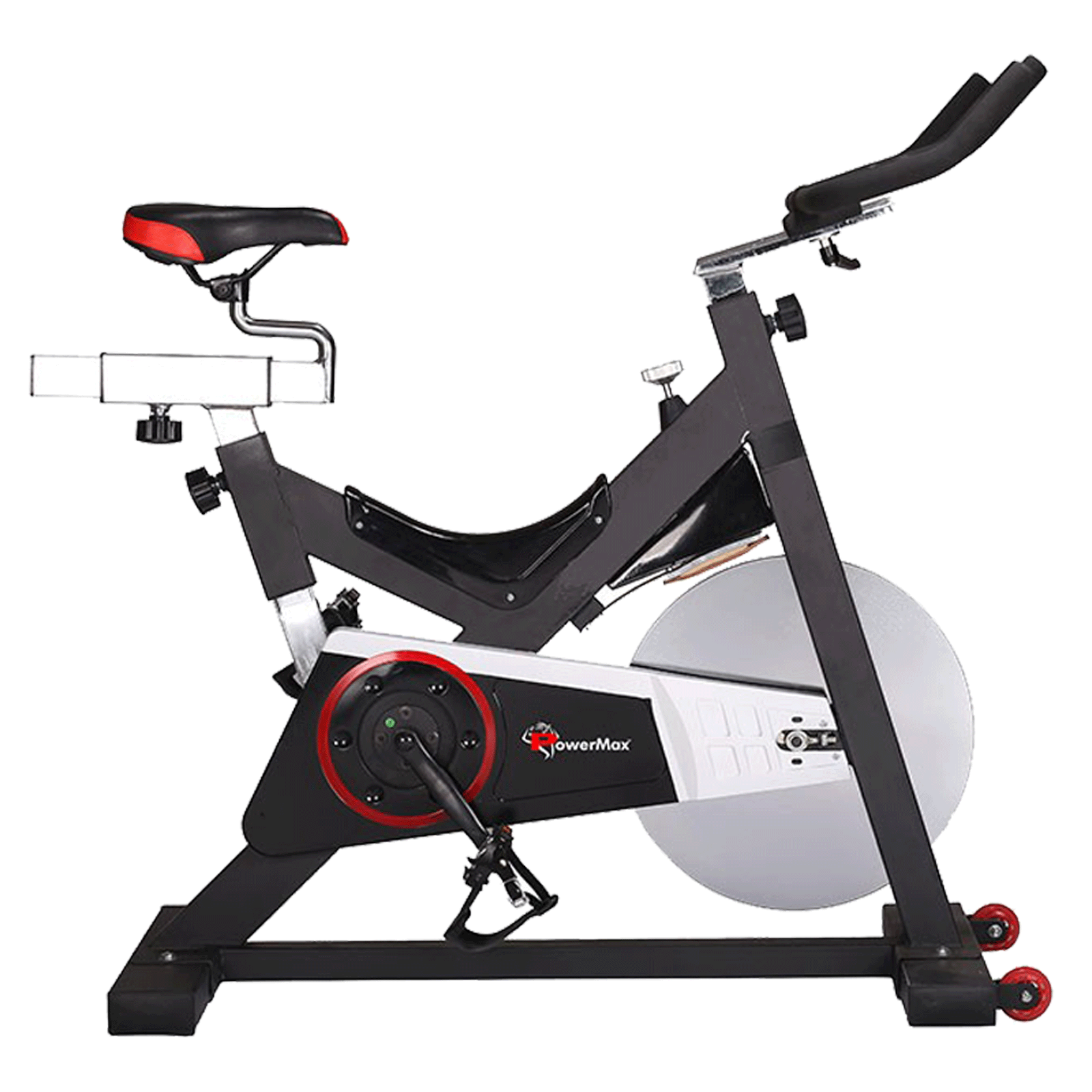 Powermax Fitness Cycle (Fully Adjustable Gel Seat With Sweat Proof Finish, BS-2100C, Black)_1