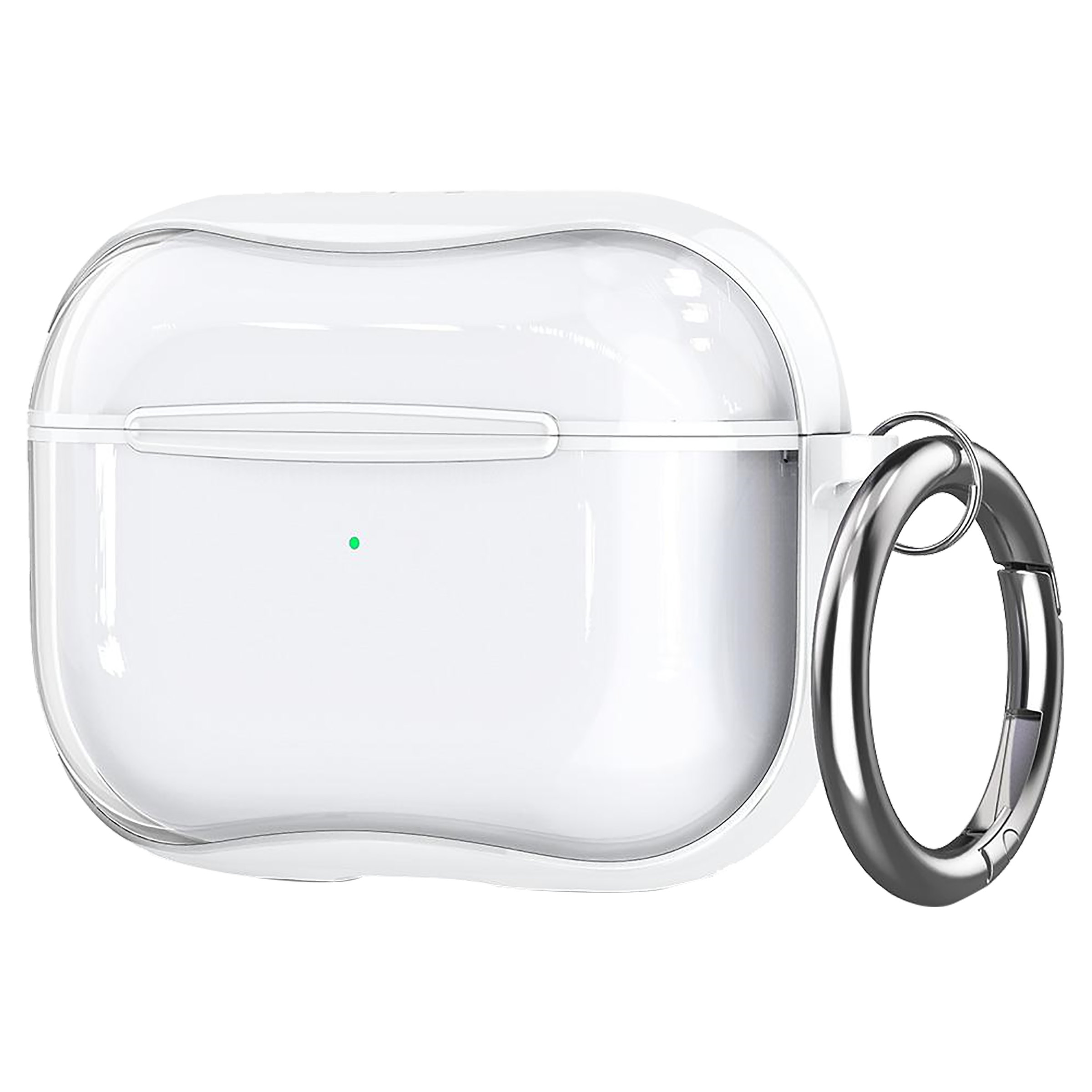 Spigen Ultra Hybrid TPU & PC Full Cover Case For AirPods Pro (Fully Compatible With Wireless Charging, ASD01246, Jet White)_1