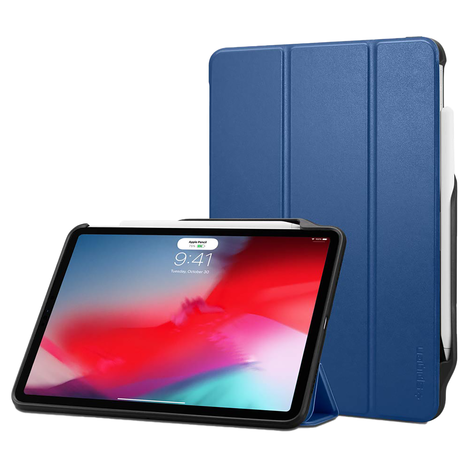 """Spigen Smart Fold 2 Back Case with Stand For iPad Pro 11"""" (2018) (Secure Magnetic Closure, 067CS25213, Blue)_1"""