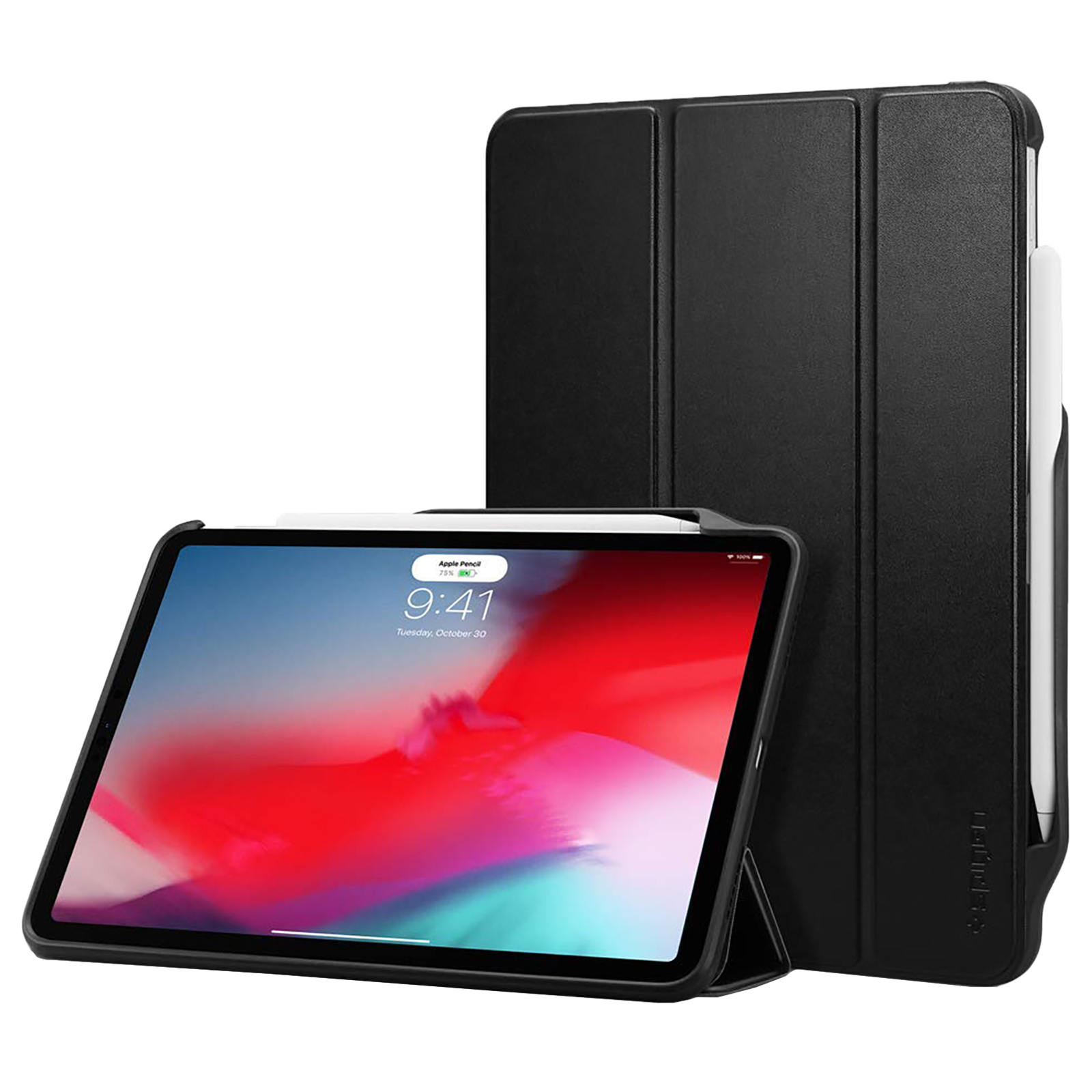 """Spigen Smart Fold 2 Back Case with Stand For iPad Pro 11"""" (2018) (Air Cushion Technology, 067CS25210, Black)_1"""