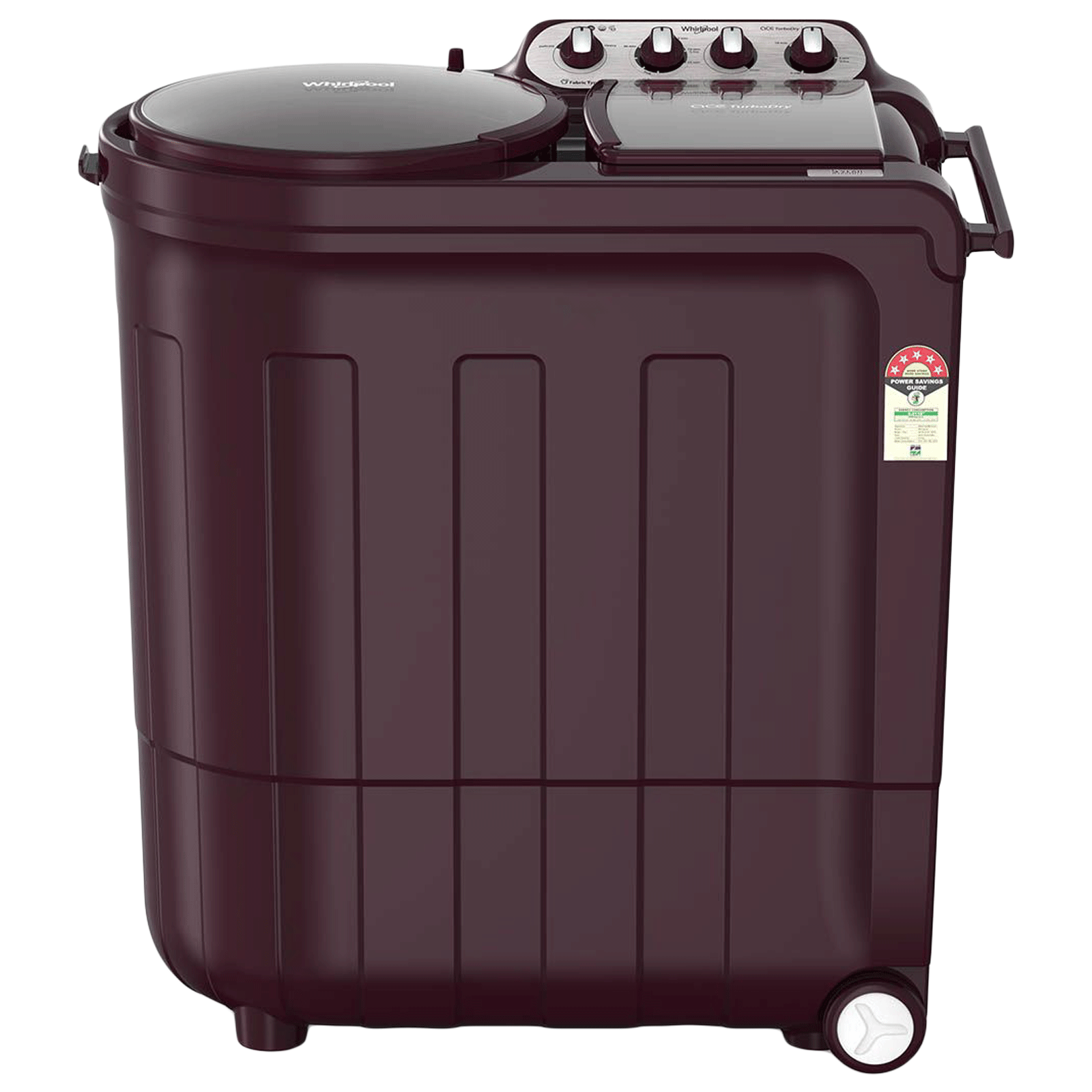 Whirlpool Ace 8.5 kg 5 Star Semi-Automatic Front Load Washing Machine (Impeller Wash Technology, Ace 8.5 TURBODRY, Wine Dazzle) _1