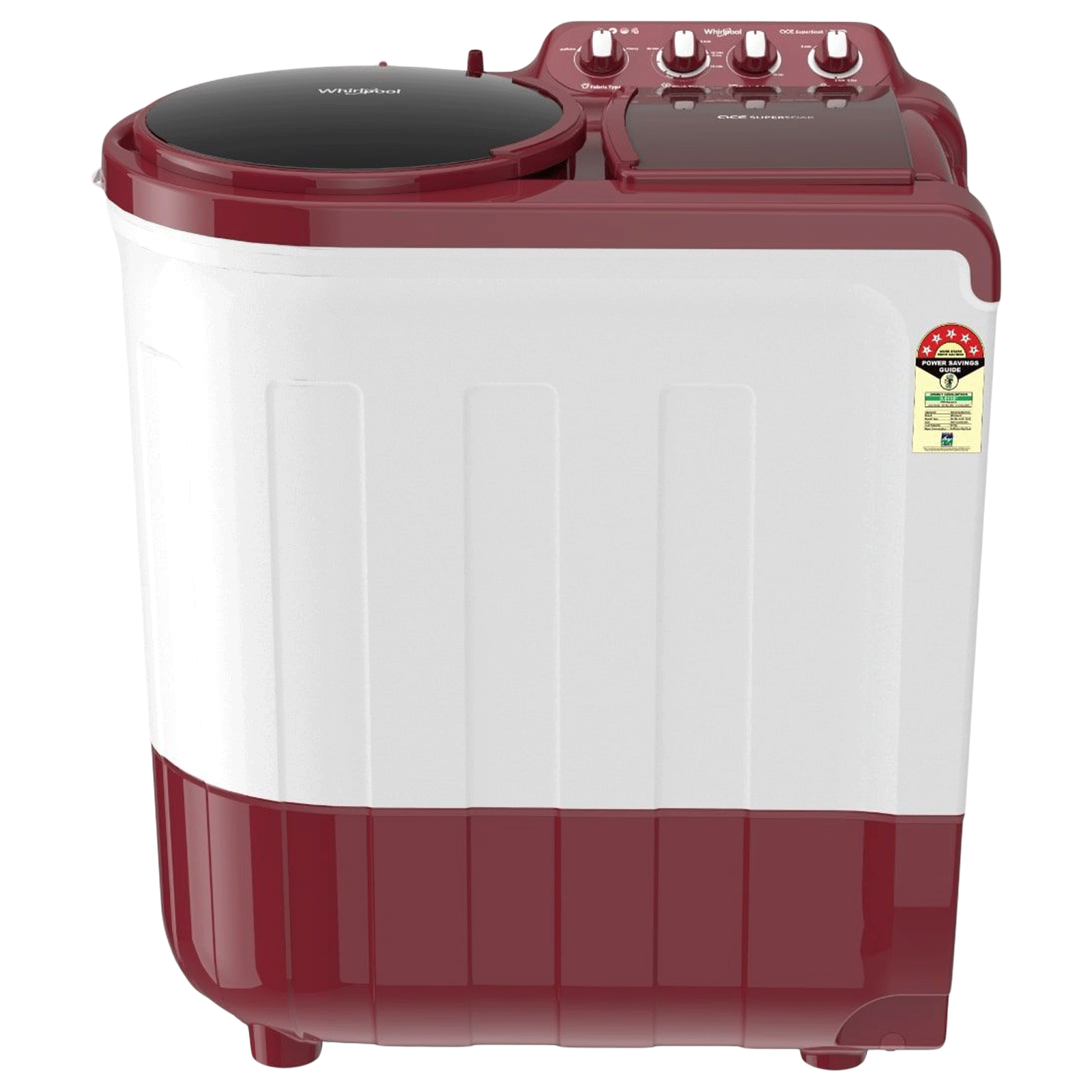 Whirlpool Ace 8 kg 5 Star Semi-Automatic Top Load Washing Machine(Supersoak, ACE 8.0 SUPERSOAK, Coral Red)_1
