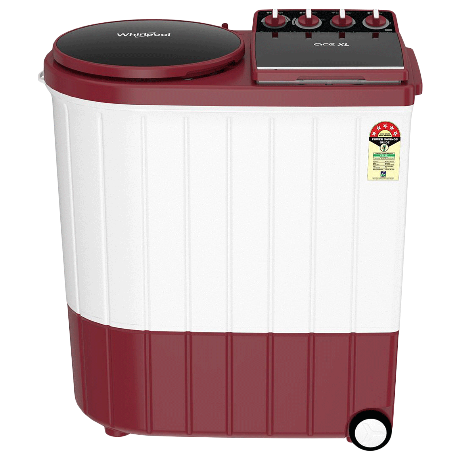 Whirlpool Ace Xl 9 kg 5 Star Semi-Automatic Top Load Washing Machine (Impeller Wash Technology, Coral Red)_1