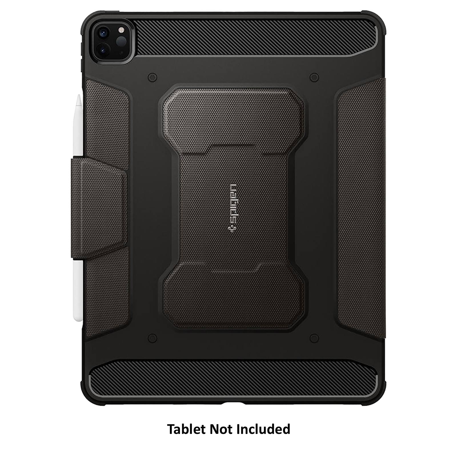 """Spigen Rugged Armor Pro PU Leather and TPU Full Cover Case For iPad Pro 11"""" (2021/2020/2018) (Air Cushion Technology, ACS01025, Gunmetal)_3"""