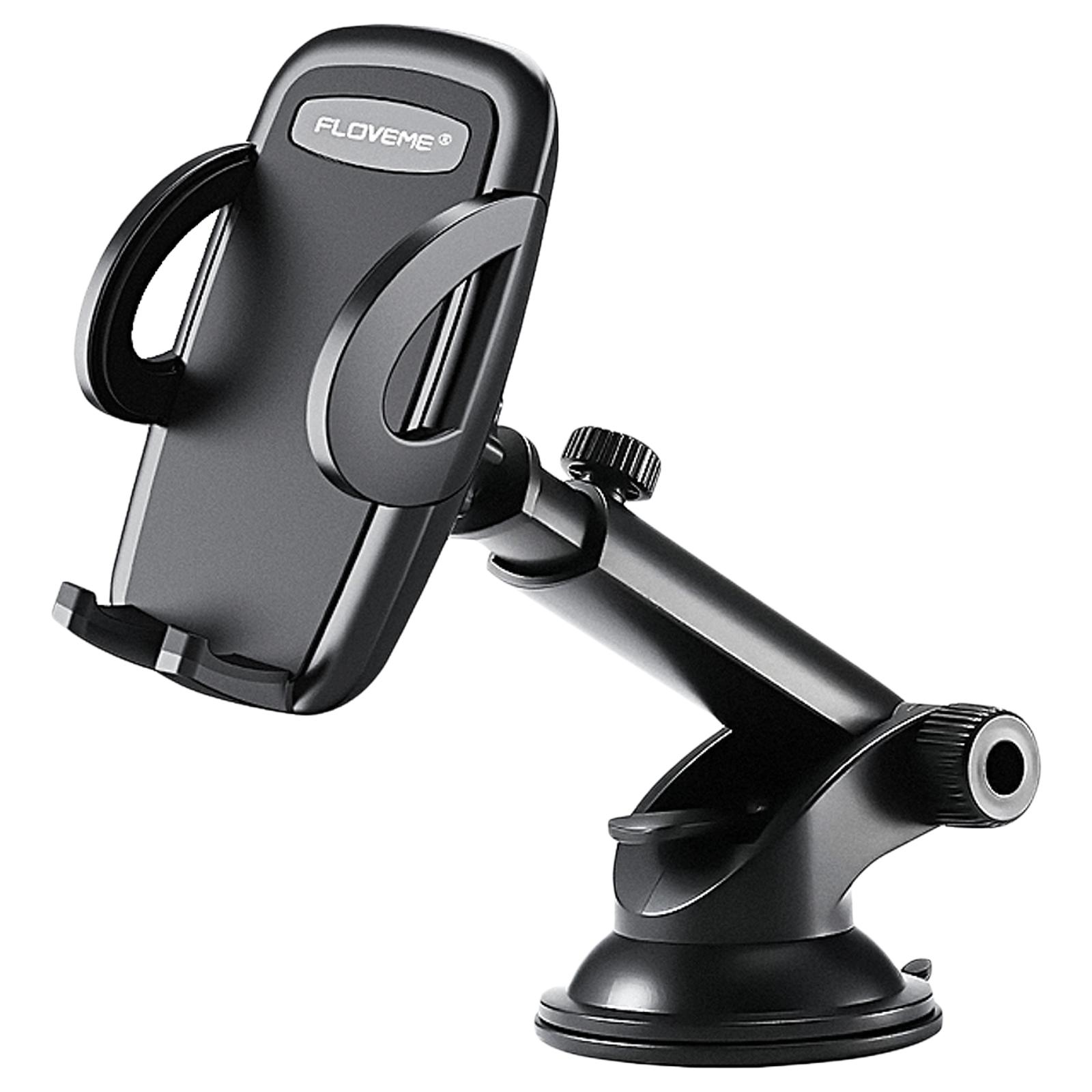 InBase Universal Dashboard Mobile Holder (Automatic Lock Design, IB-1082, Black)_1