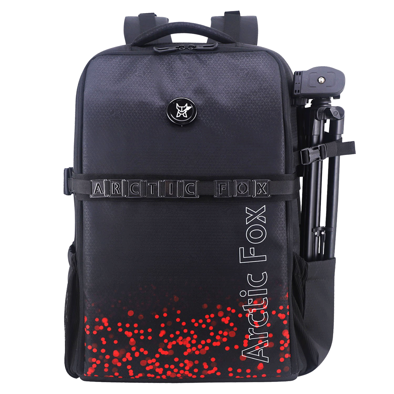 Arctic Fox Click Polyester PU Coated Camera Bagpack for Camera (17 Inch Laptop Compatible, FEXCMBFLSWZ135034, Flame Scarlet)_1