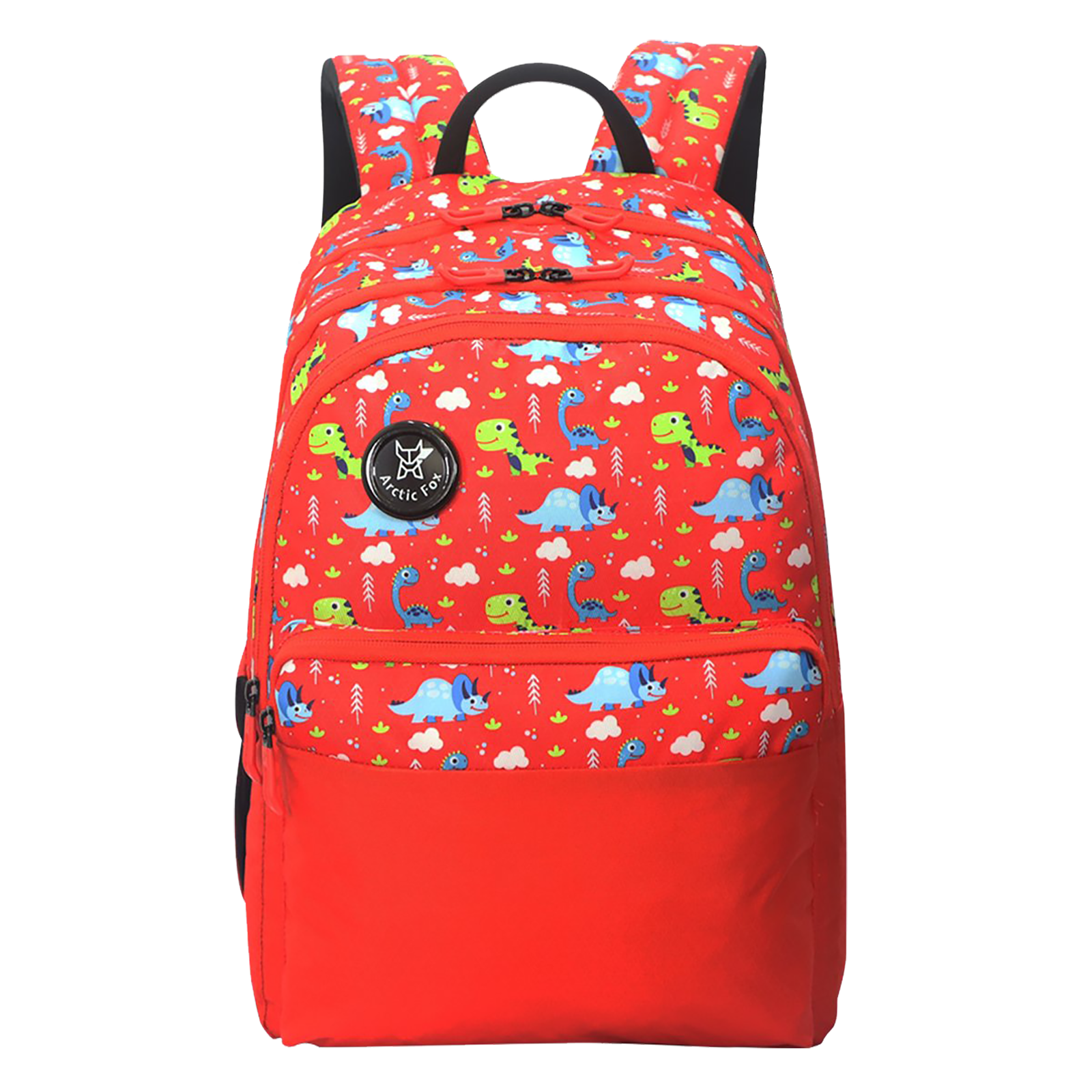 Arctic Fox Dino 23 Litres PU Coated Polyester Backpack (3 Spacious Compartments, FJUBPKFIRWZ069023, Fiery Red)_1