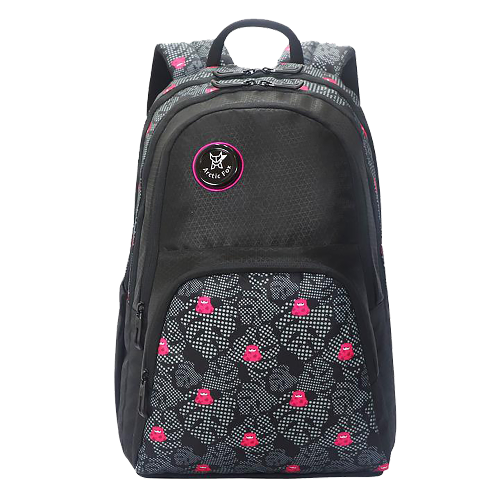 Arctic Fox Lama 31 Litres PU Coated Polyester Backpack (3 Spacious Compartments, FJUBPKBLKWZ072031, Black)_1
