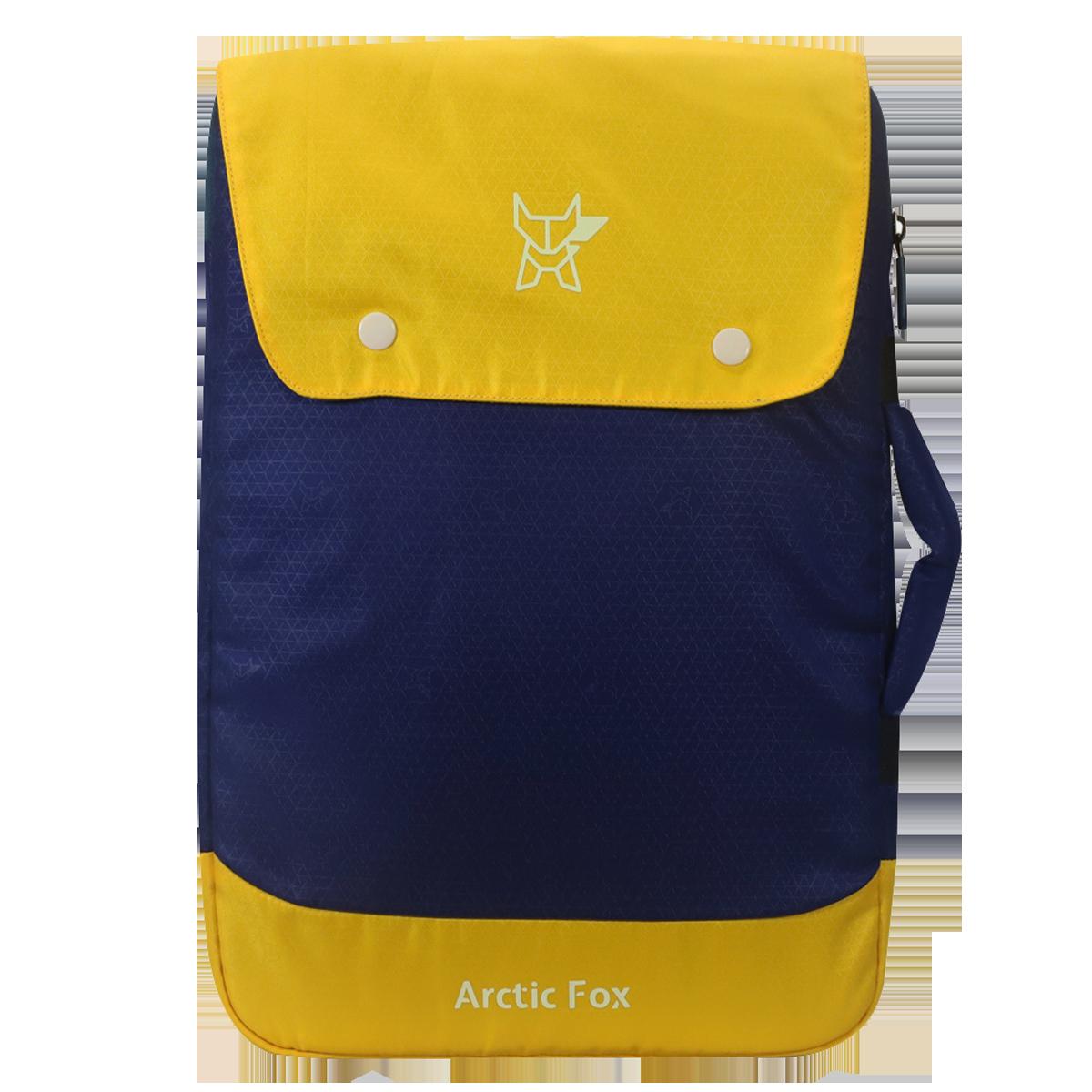 Arctic Fox Bonded Polyester Fabric Sleeve for Laptop (FACLSLNVYOE138000, Blue)_1